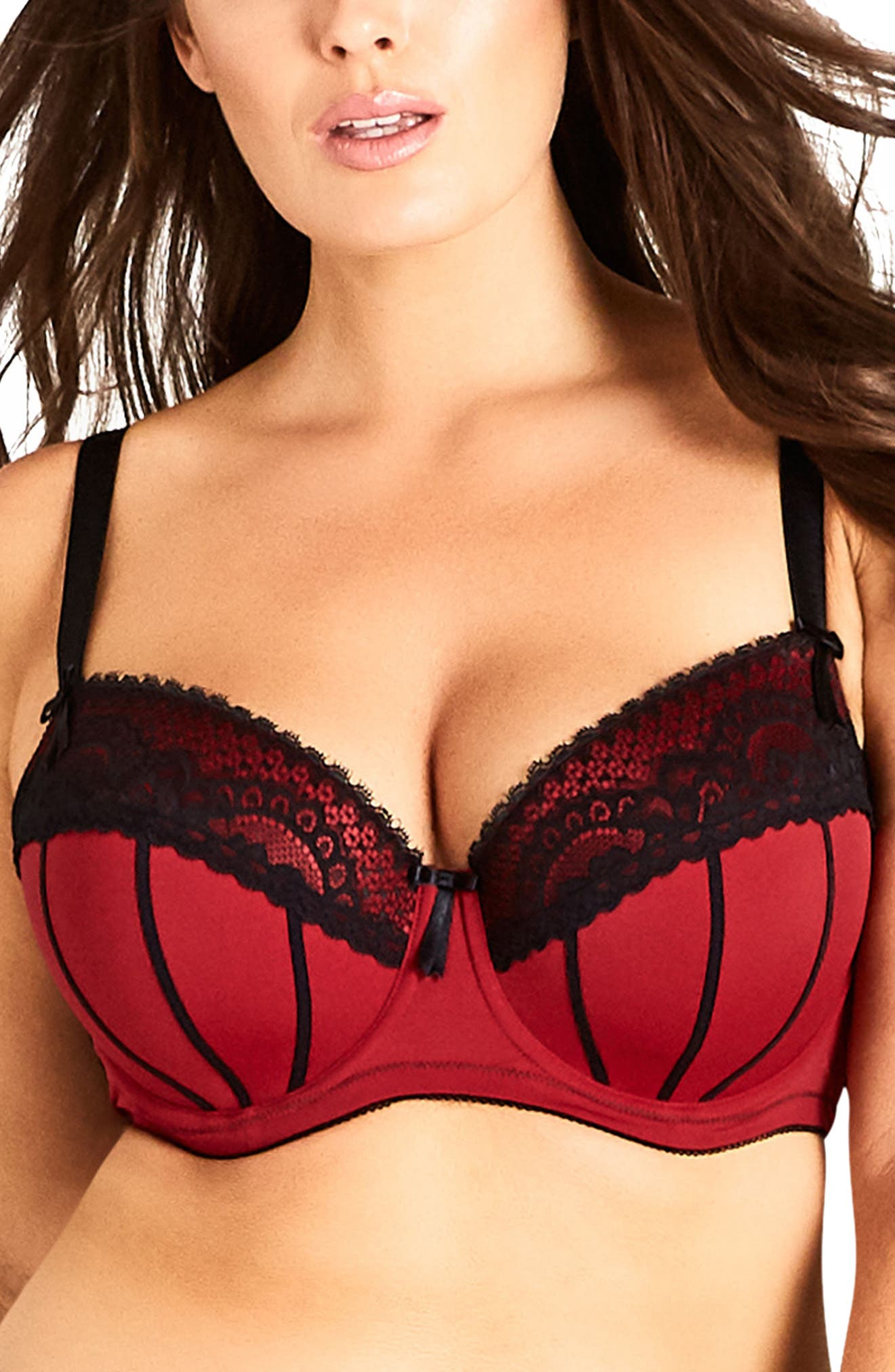 Georgia Contour Underwire Bra,                             Main thumbnail 1, color,                             Berry