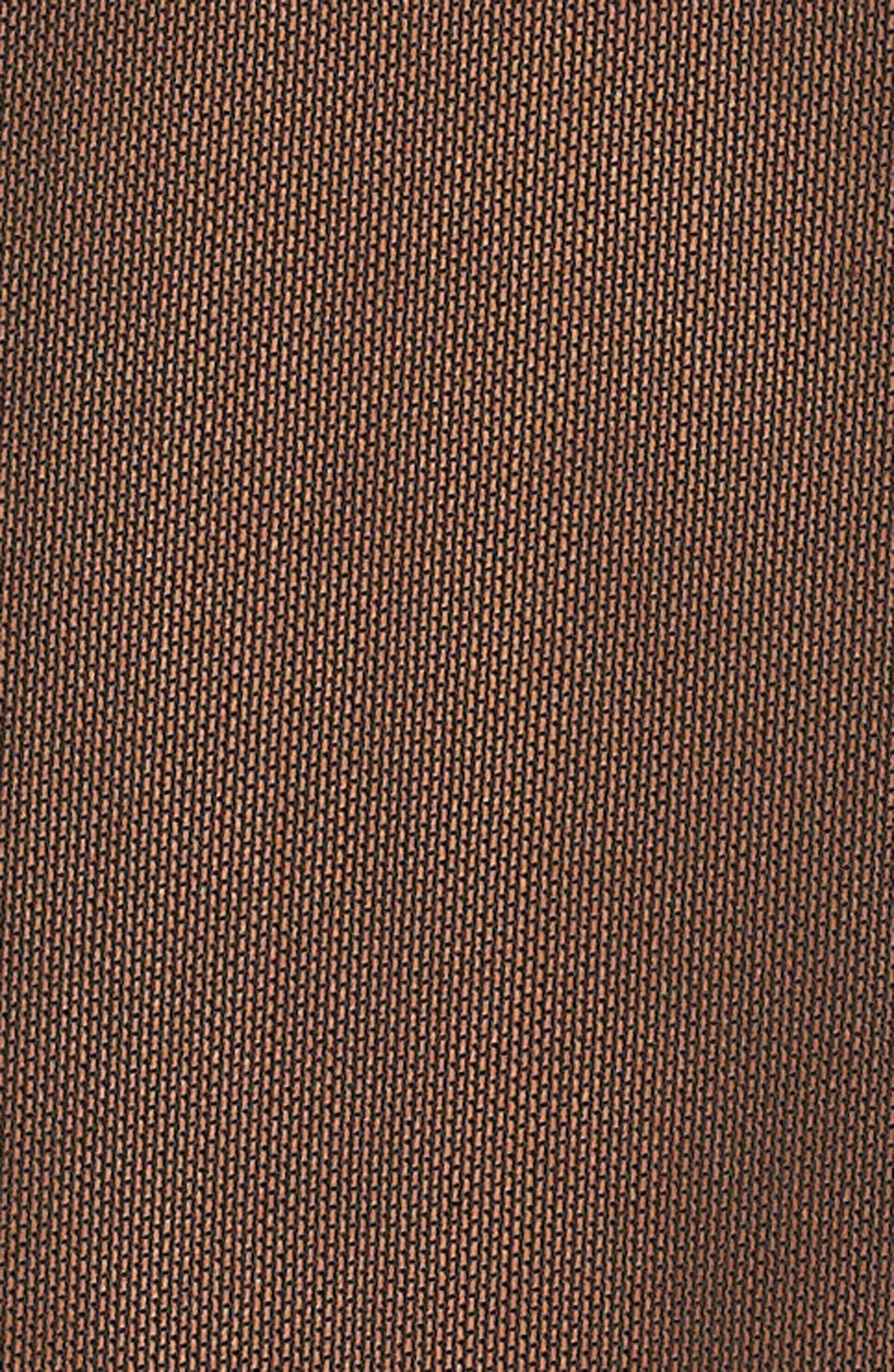 Sheer Tie Front Crop Top,                             Alternate thumbnail 5, color,                             Black