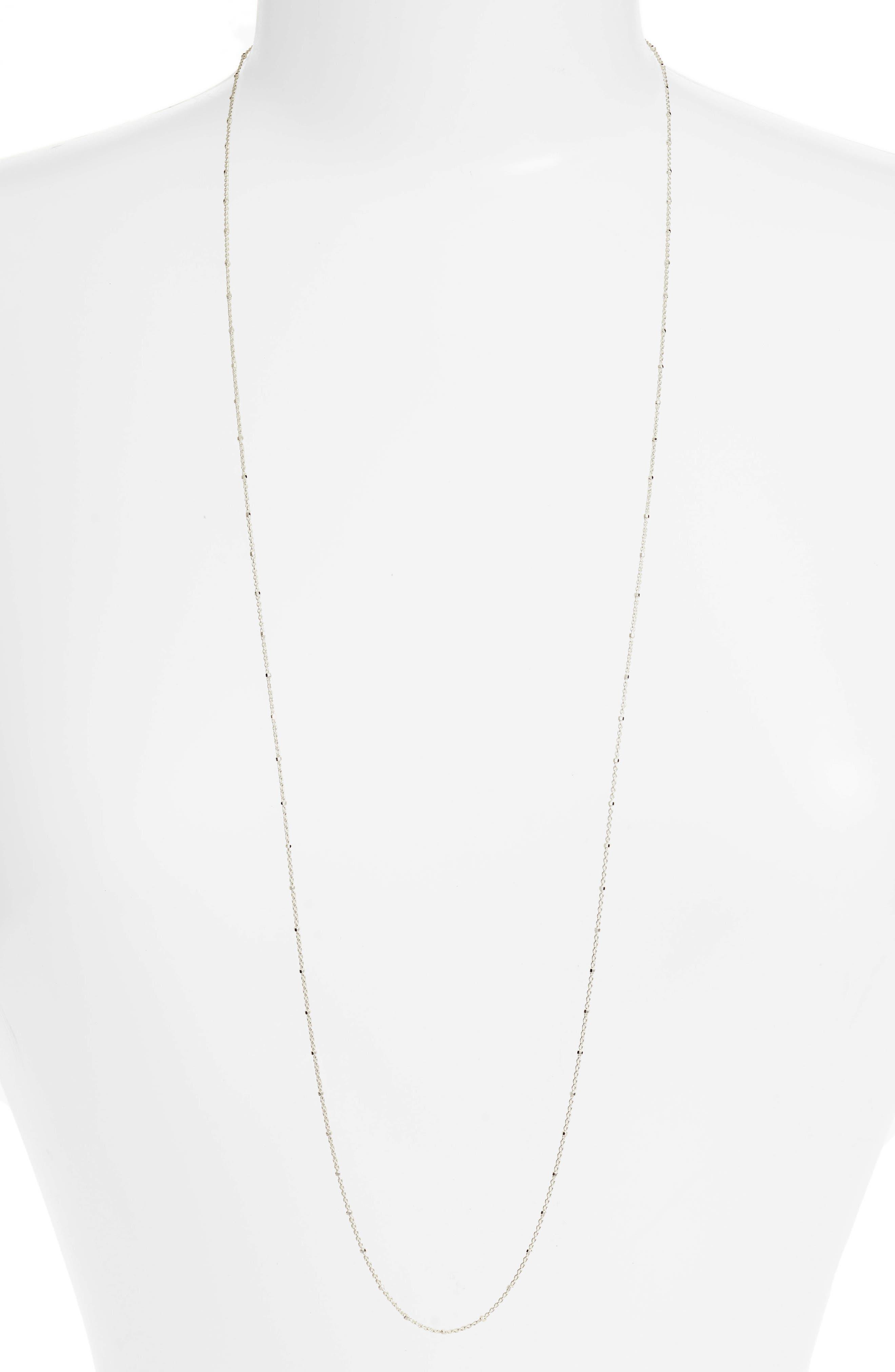 Main Image - Argento Vivo Cylinder Bead Necklace