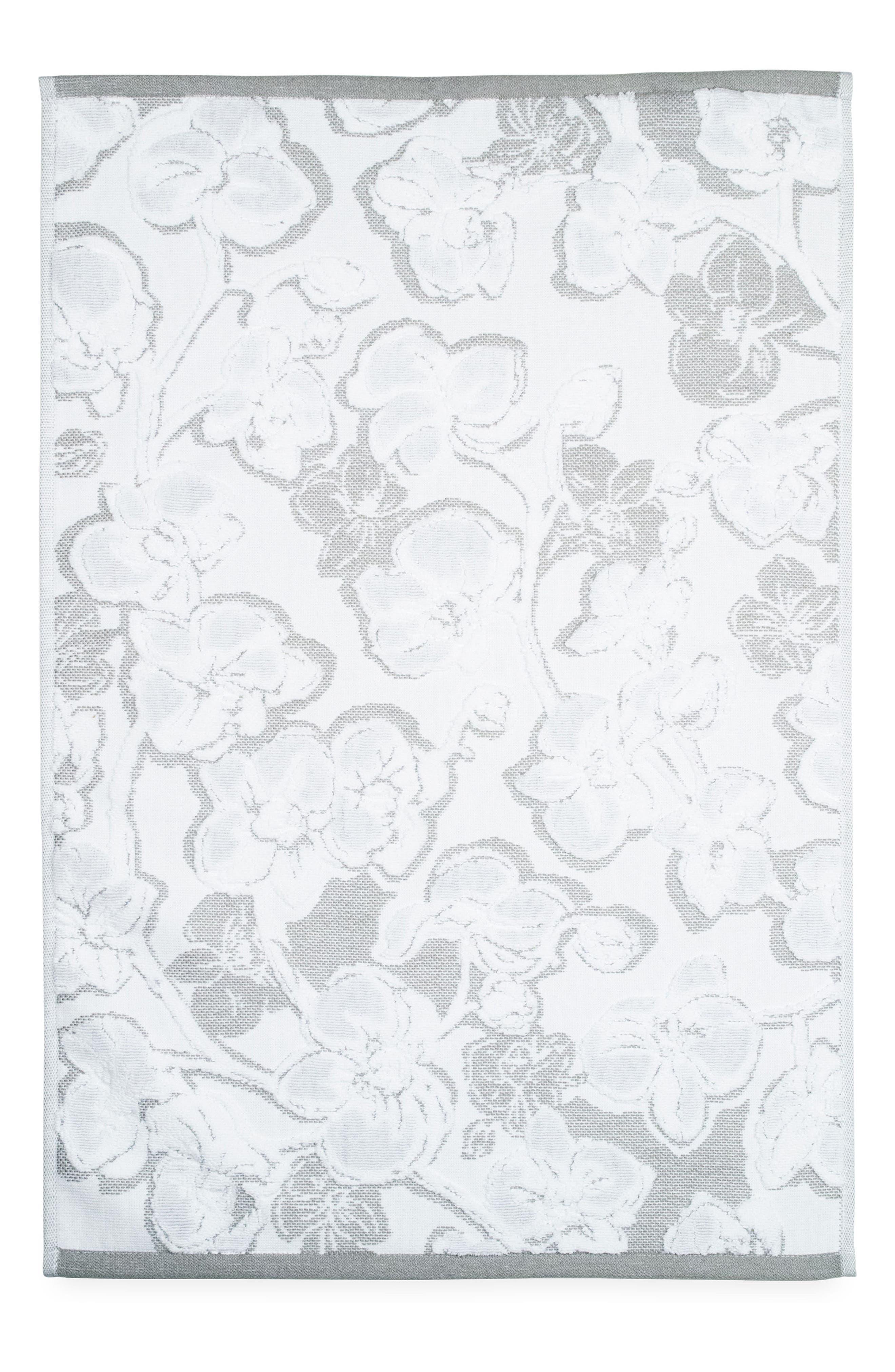 Orchid Hand Towel,                             Main thumbnail 1, color,                             Grey