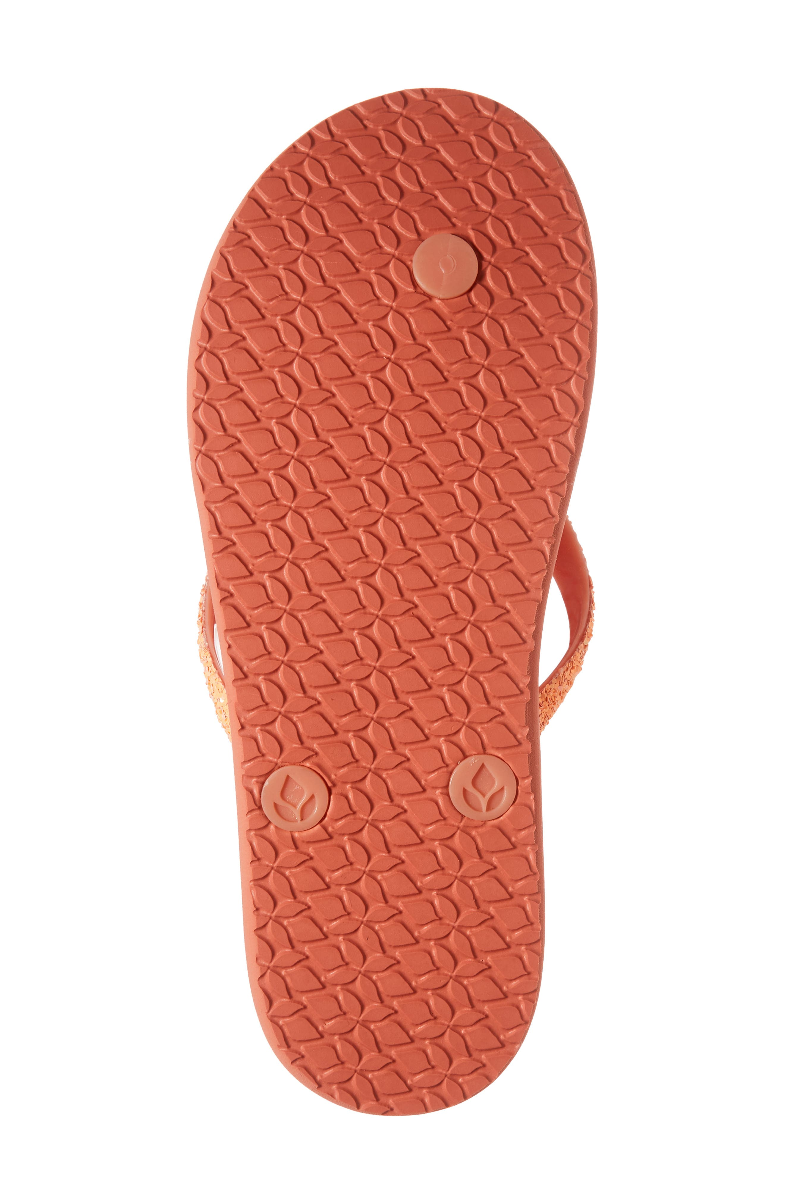 Little Stargazer Glitter Sandal,                             Alternate thumbnail 6, color,                             Orange