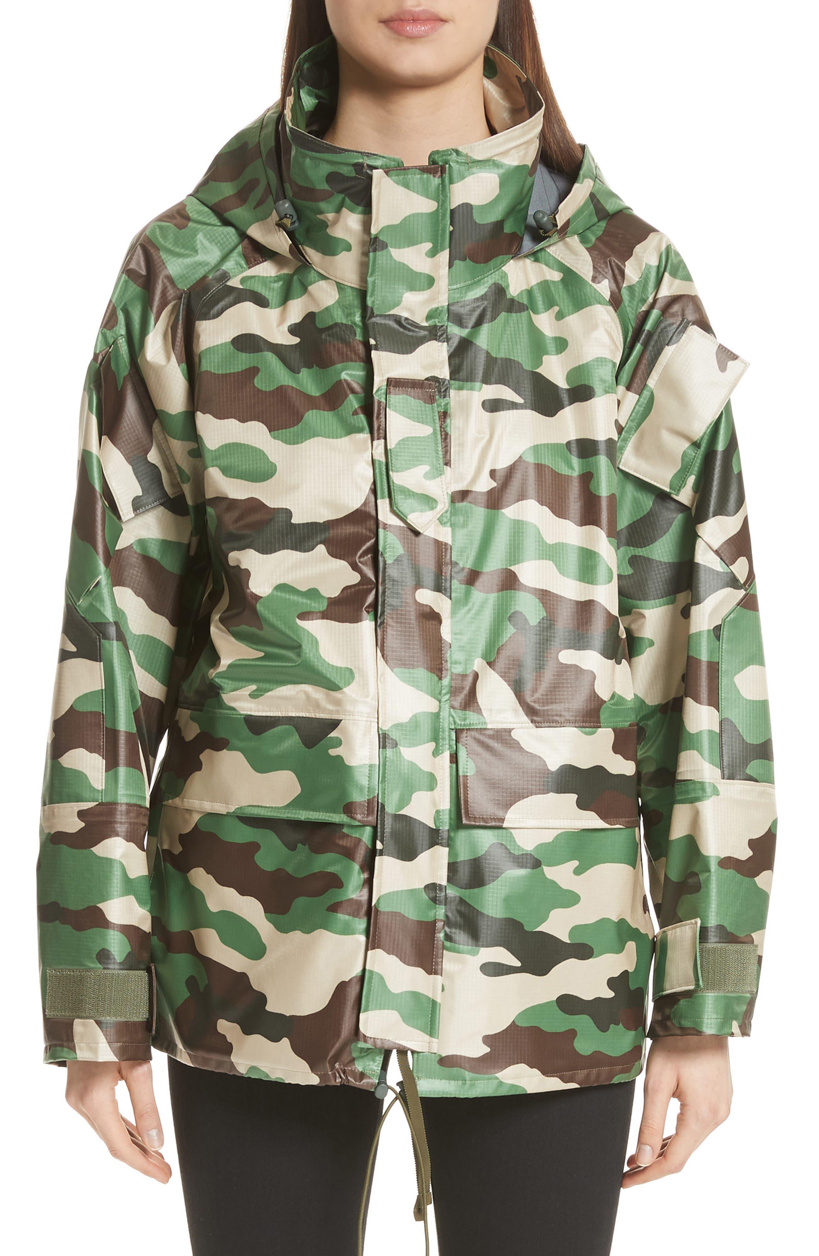 Camo Nylon Jacket,                             Main thumbnail 1, color,                             Camo B