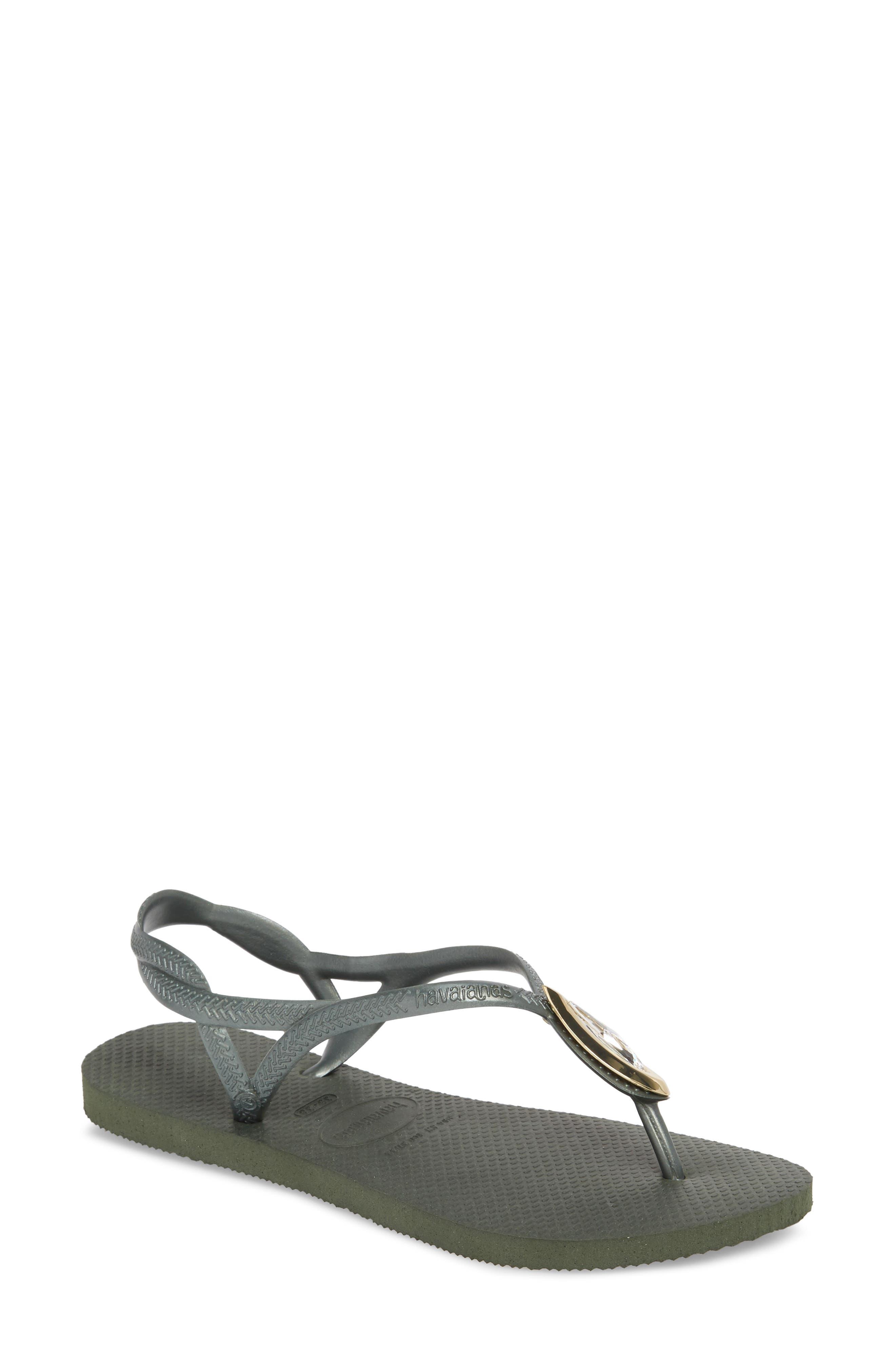 Luna Sandal,                             Main thumbnail 1, color,                             Green Olive