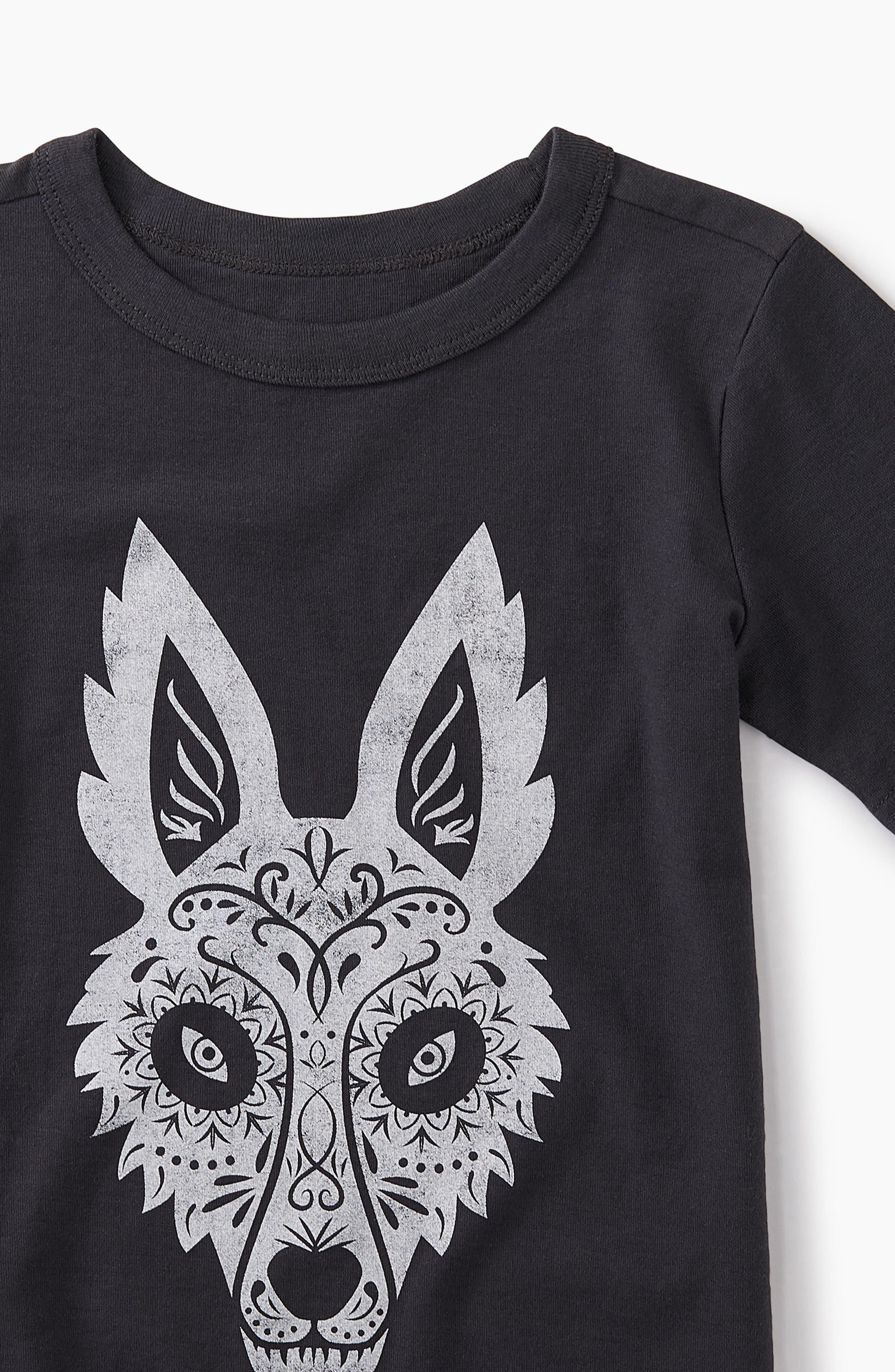 Day of the Dead Fox Graphic T-Shirt,                             Alternate thumbnail 2, color,                             Phantom