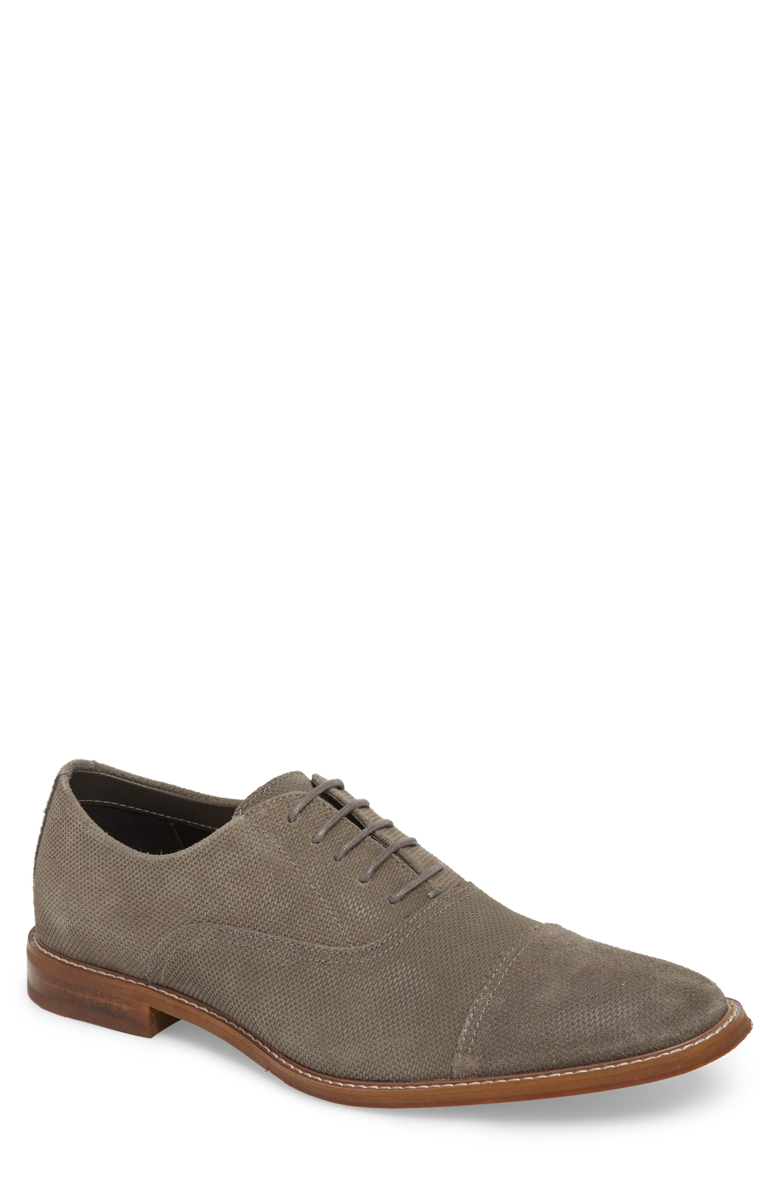 Ravenna Cap Toe Oxford,                             Main thumbnail 1, color,                             Taupe Suede