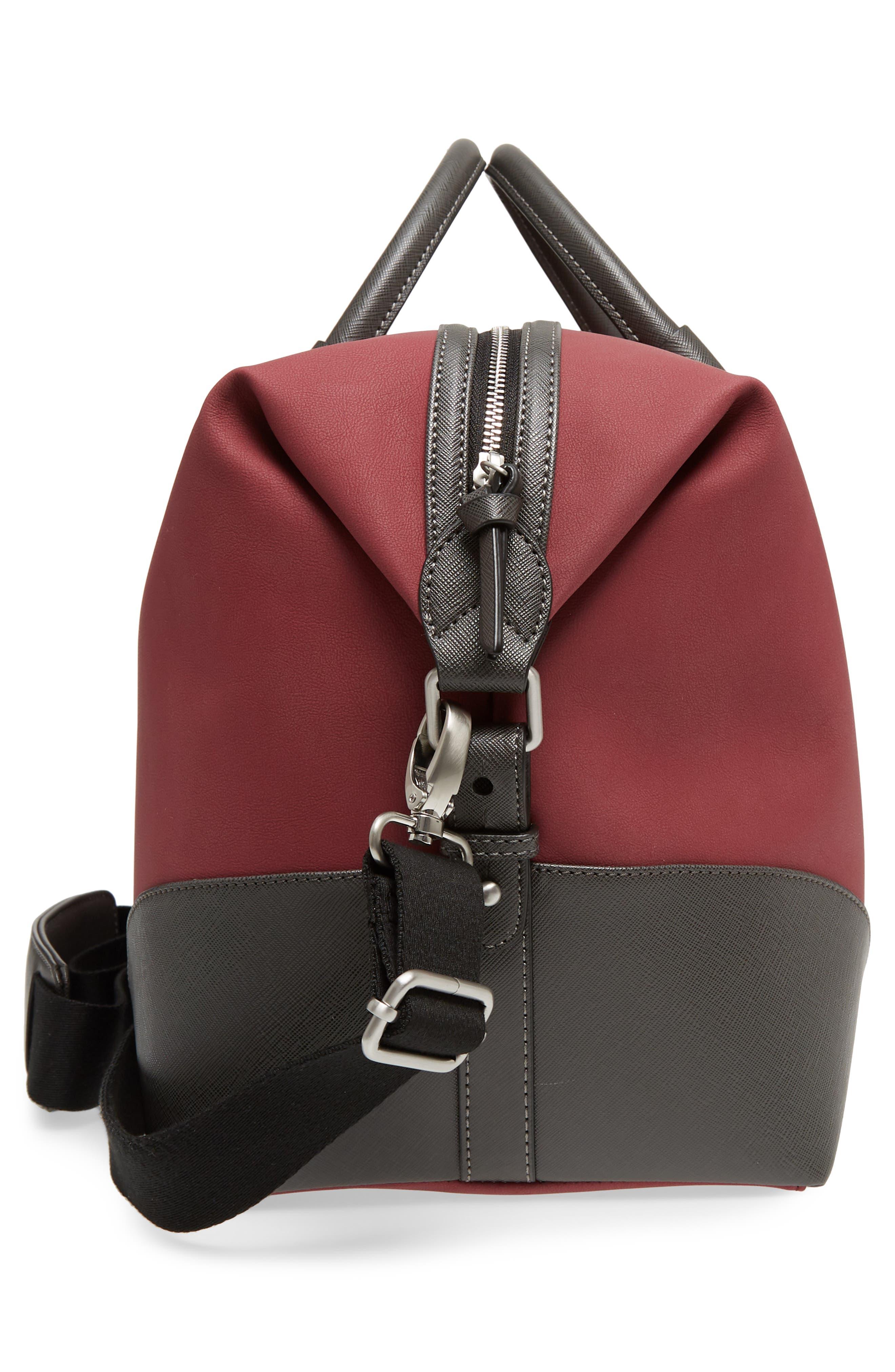 Swipes Duffel Bag,                             Alternate thumbnail 5, color,                             Red