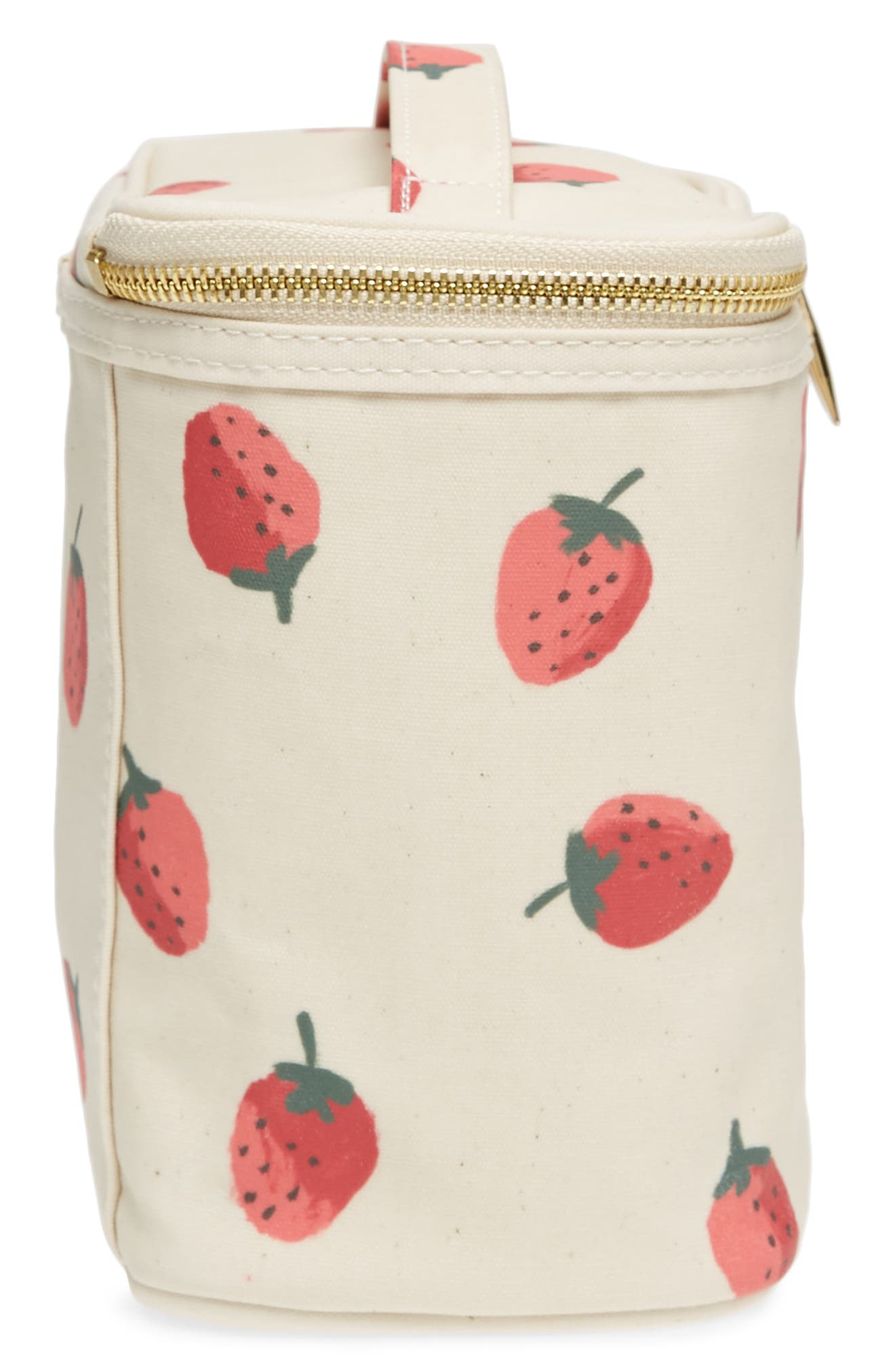 strawberry lunch tote,                             Alternate thumbnail 4, color,                             Strawberry