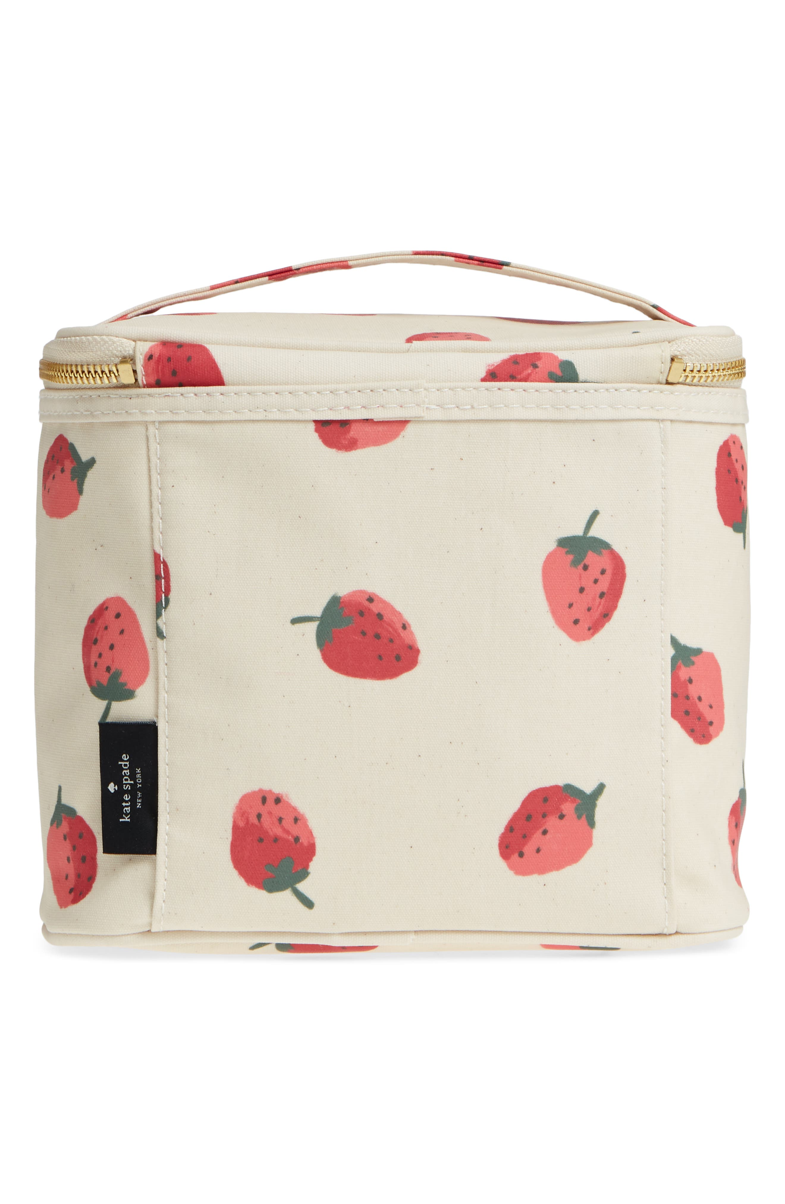 strawberry lunch tote,                             Alternate thumbnail 2, color,                             Strawberry