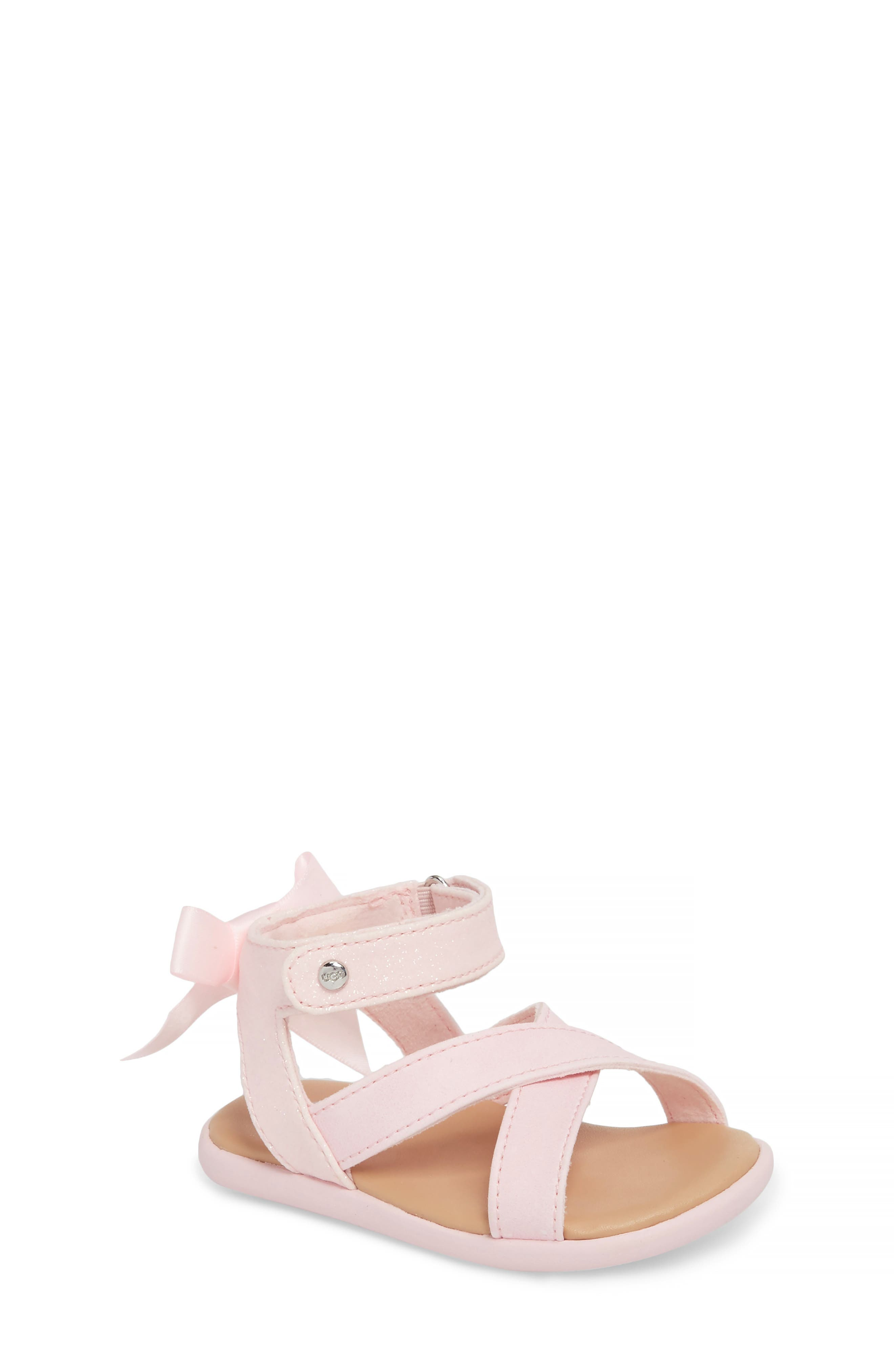 Alternate Image 1 Selected - UGG® Maggiepie Sparkles Sandal (Baby & Walker)