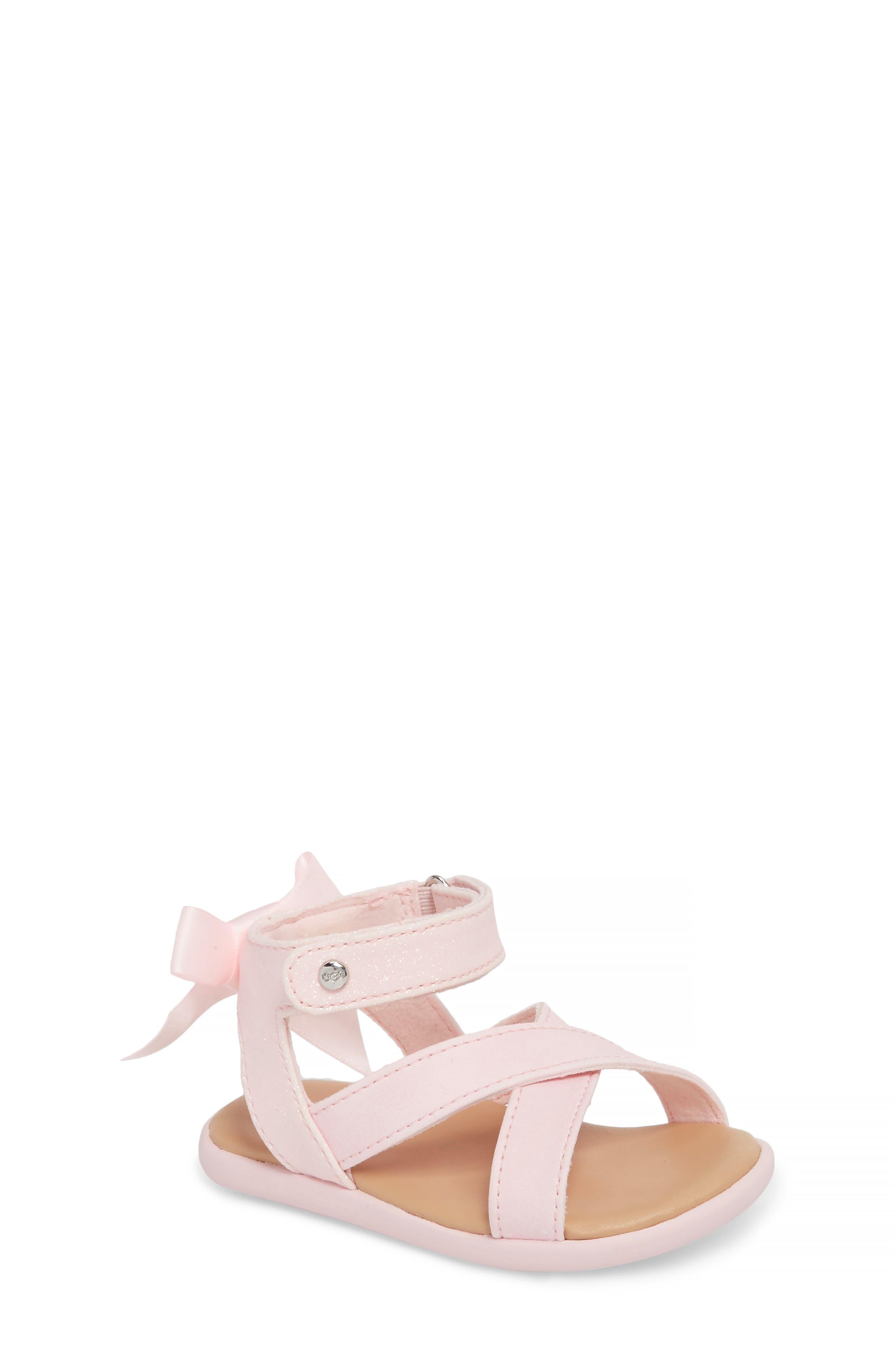 Main Image - UGG® Maggiepie Sparkles Sandal (Baby & Walker)