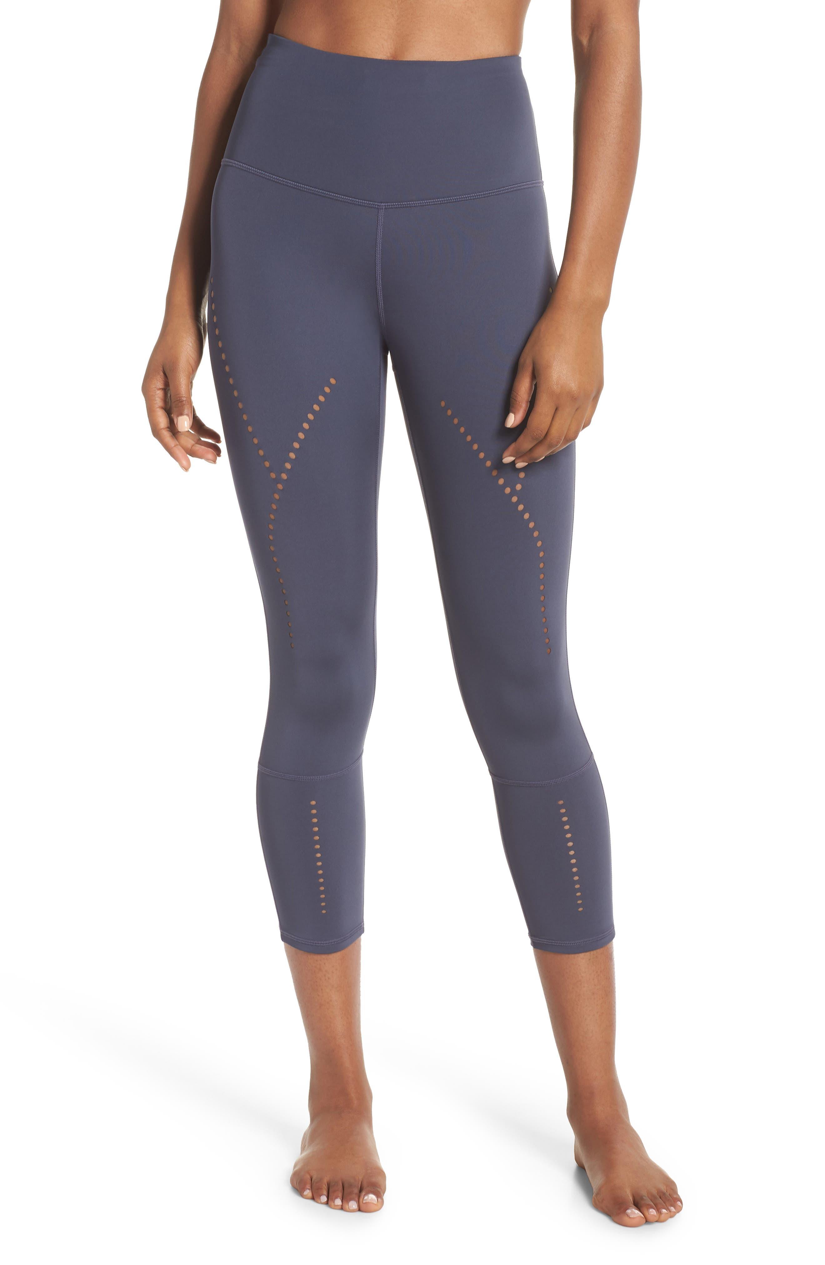 Star Crossed Crop Leggings,                         Main,                         color, Grey Slate