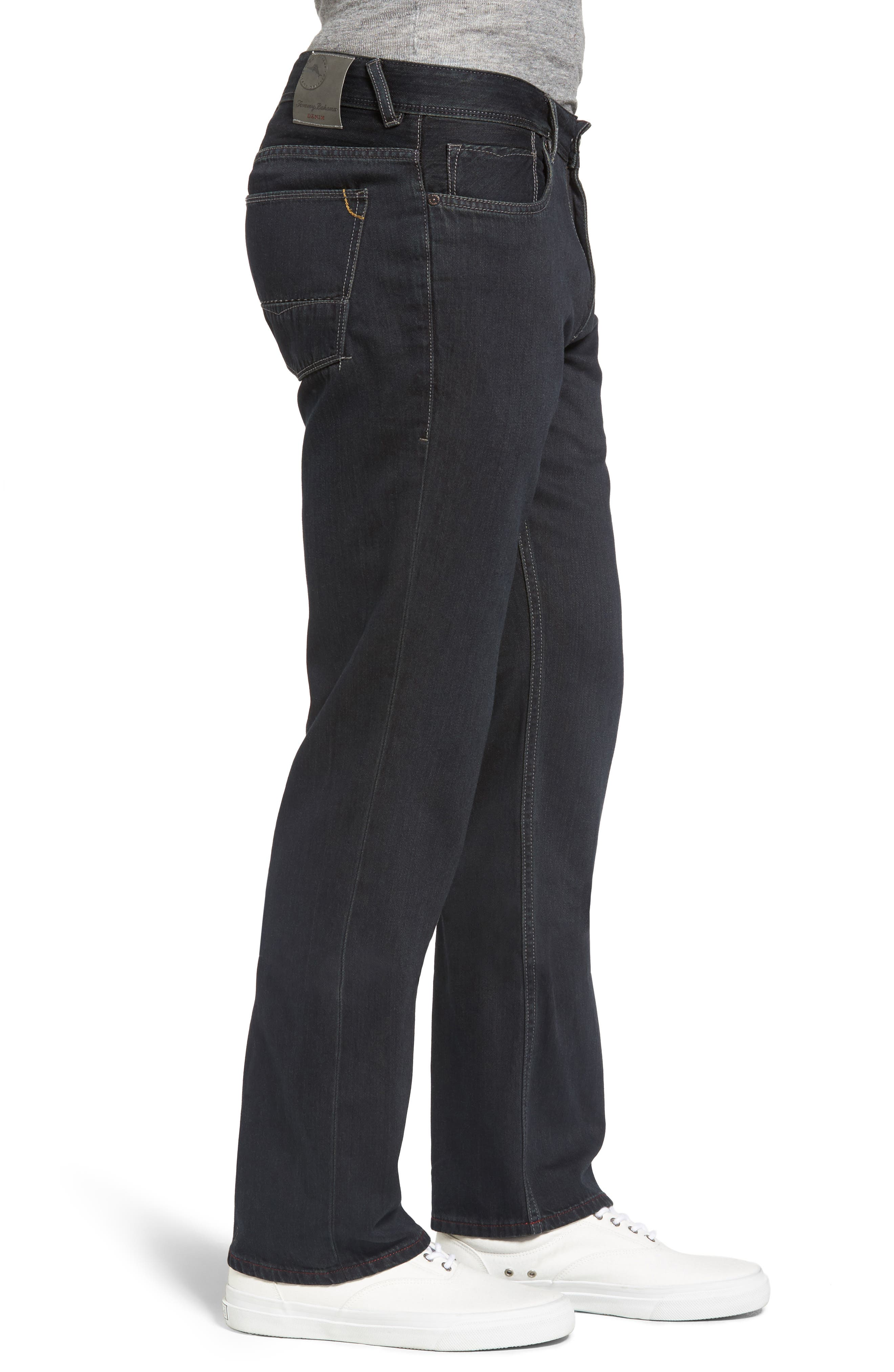 Cayman Island Relaxed Fit Straight Leg Jeans,                             Alternate thumbnail 3, color,                             Black Overdye