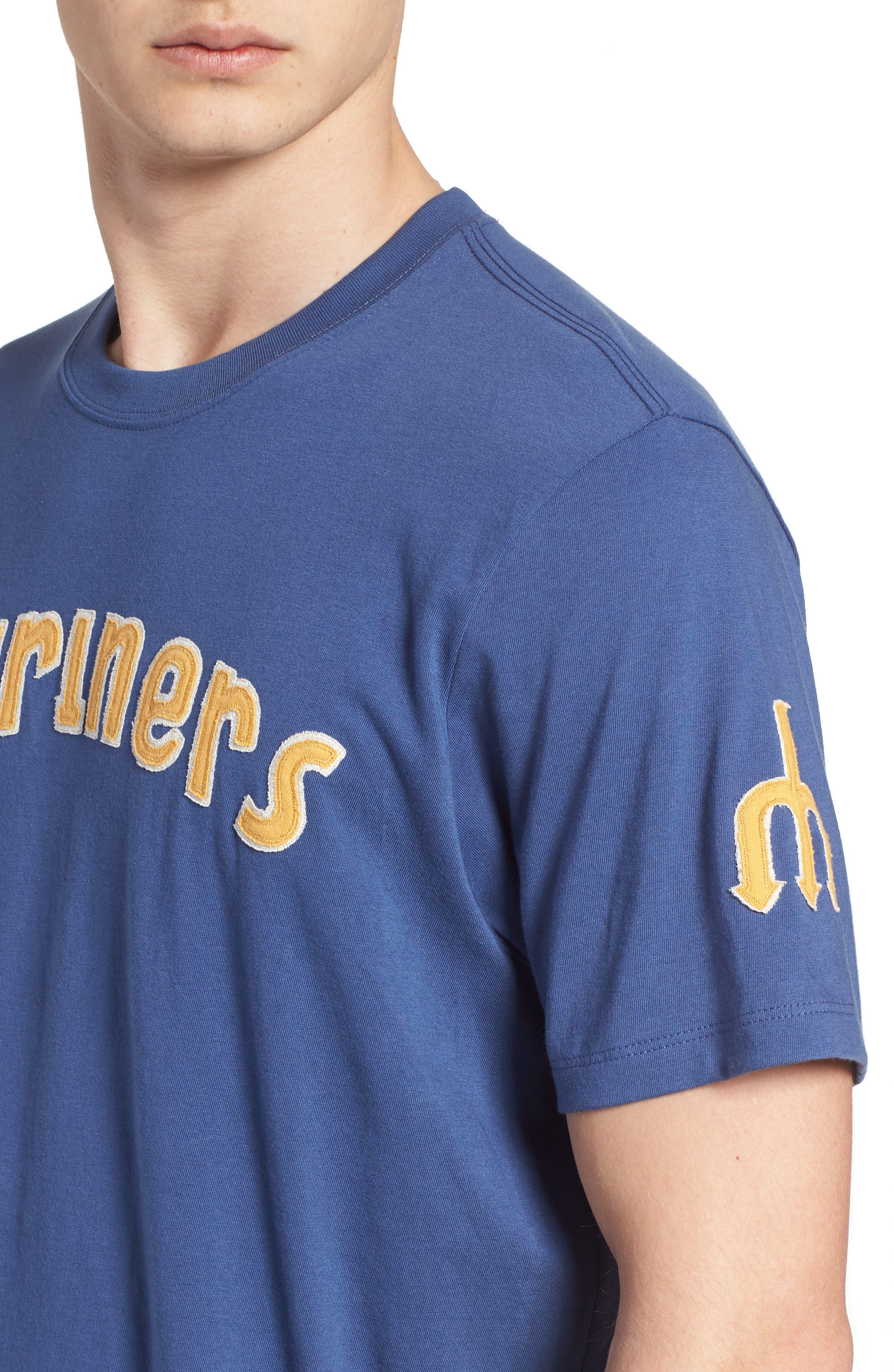 MLB Vintage Fieldhouse Seattle Mariners T-Shirt,                             Alternate thumbnail 4, color,                             Bleacher Blue