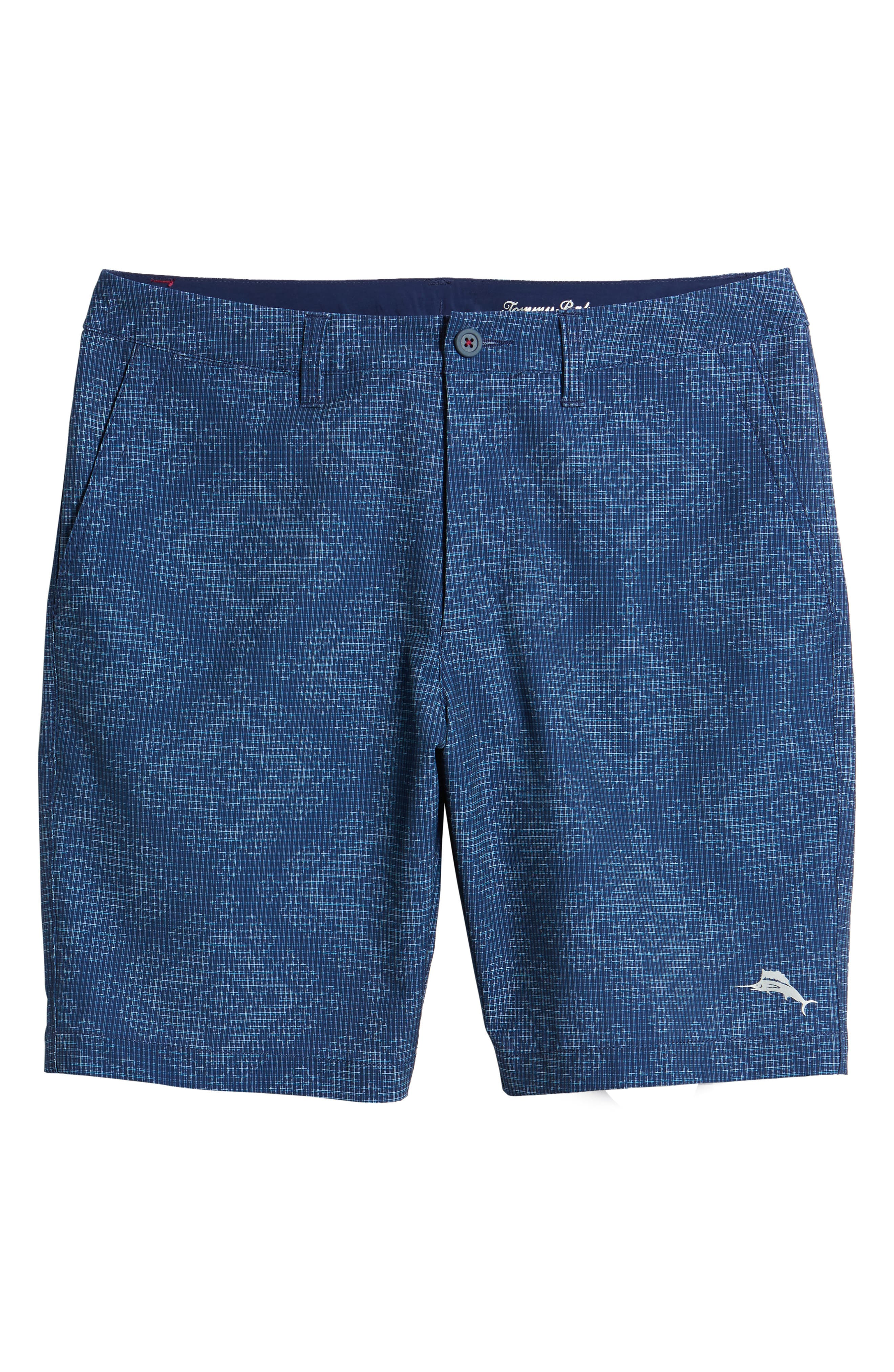 Cayman Geo de Mayo Swim Trunks,                             Alternate thumbnail 6, color,                             Throne Blue