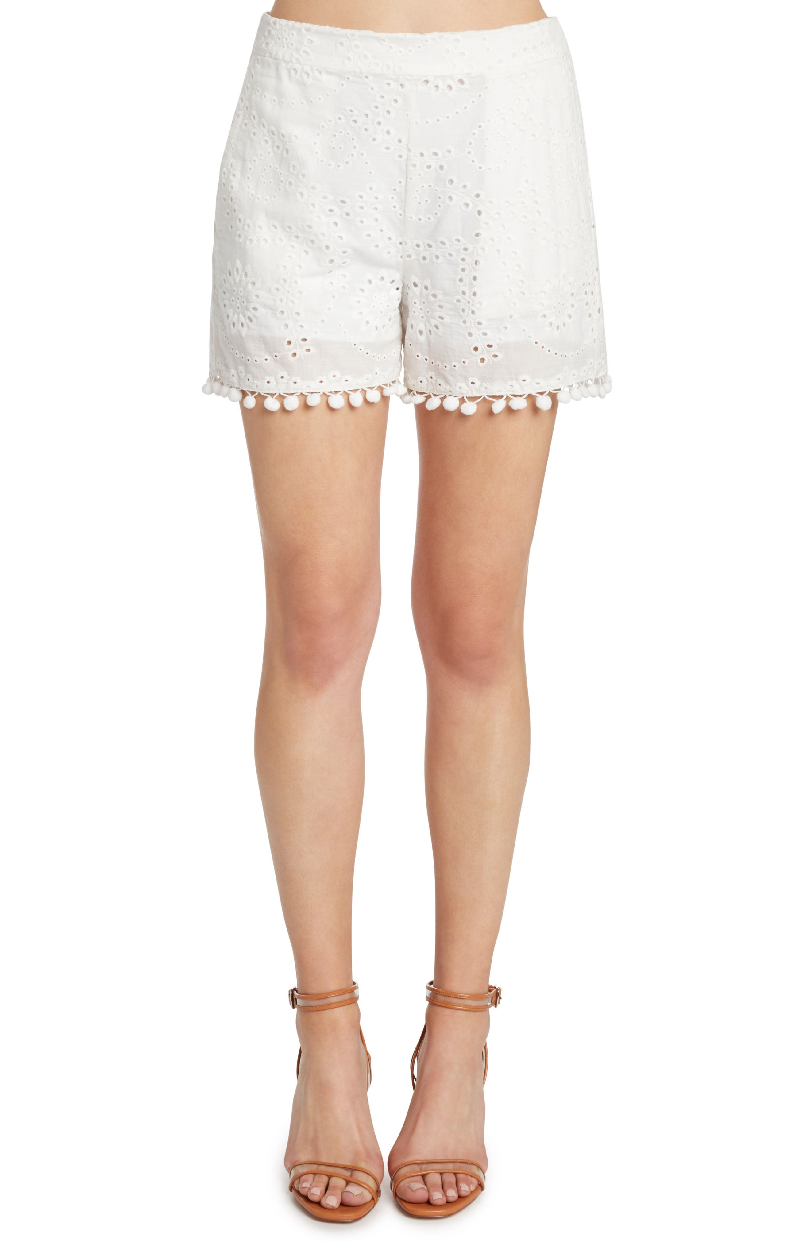 Eyelet Shorts,                         Main,                         color, Vellum