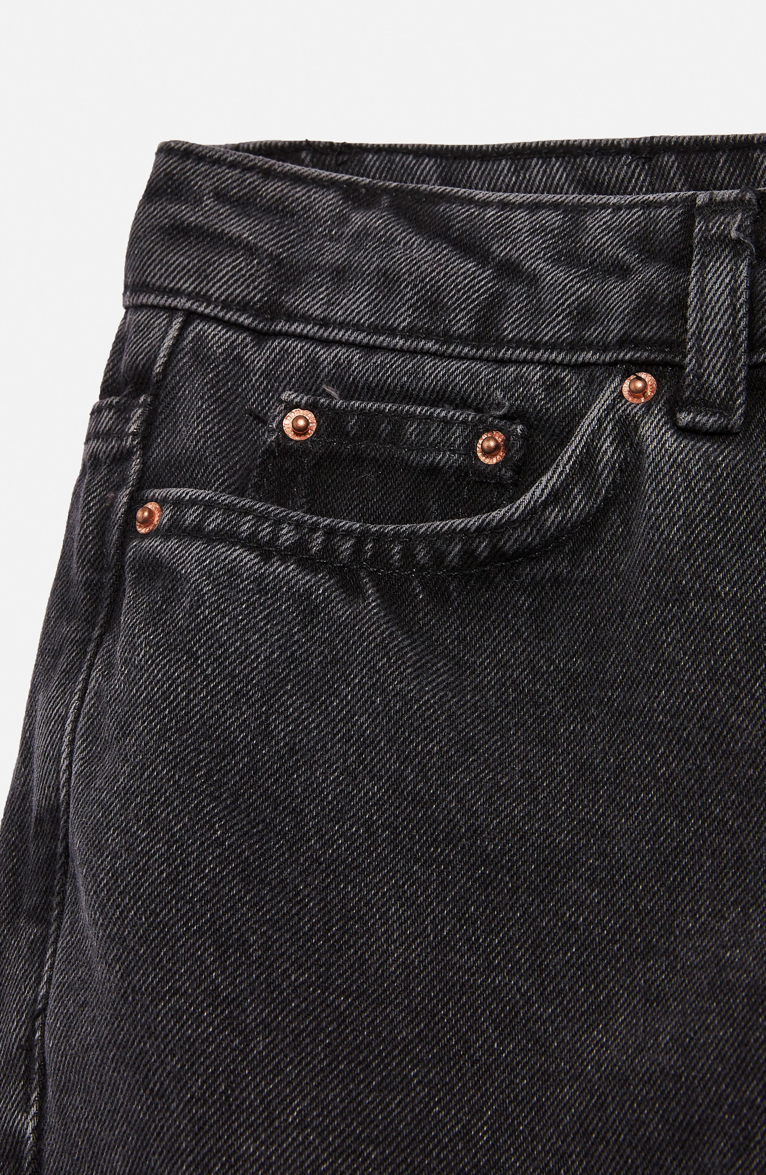 Raw Hem Kick Flare Jeans,                             Alternate thumbnail 3, color,                             Washed Black