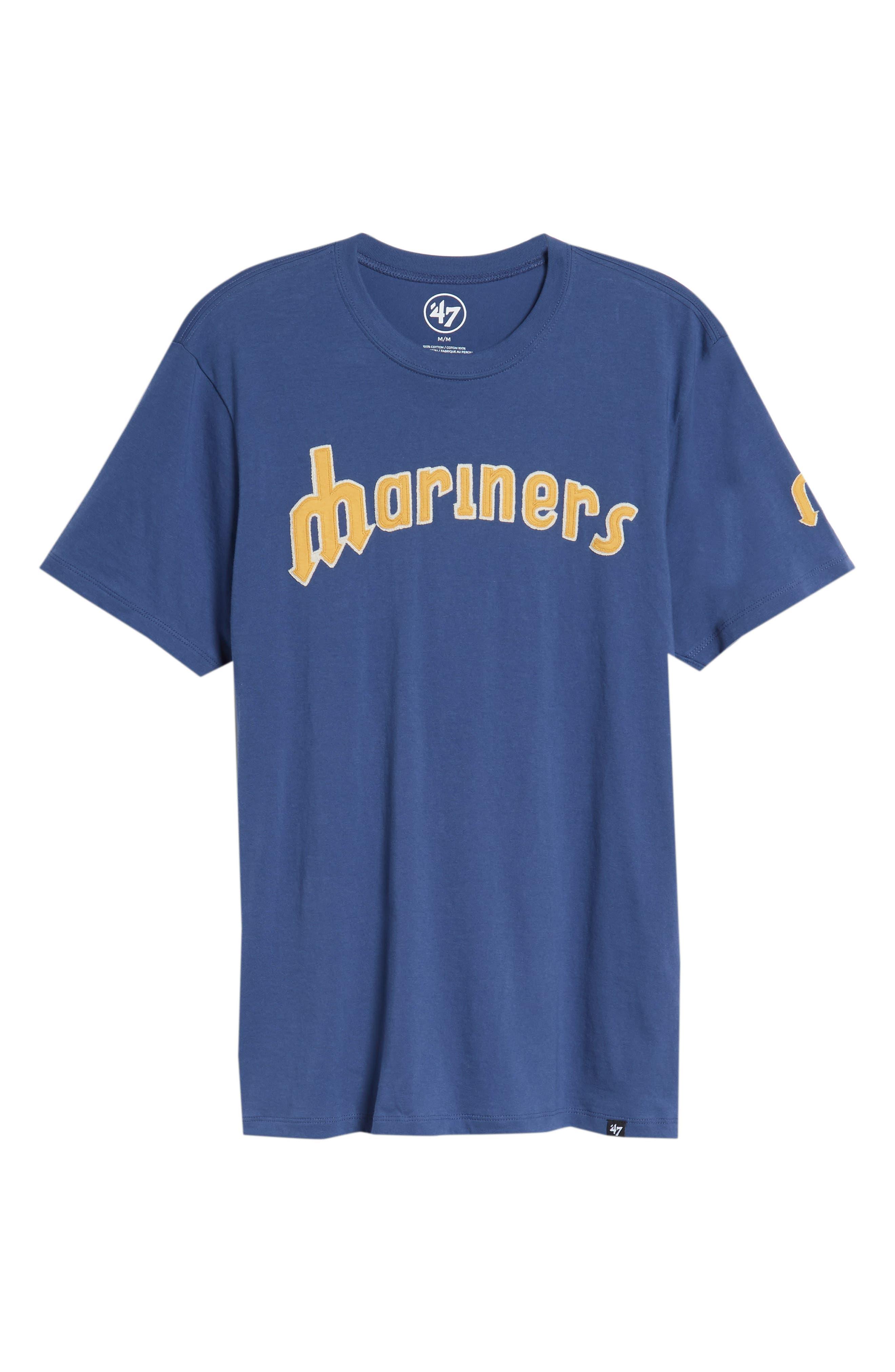 MLB Vintage Fieldhouse Seattle Mariners T-Shirt,                             Alternate thumbnail 6, color,                             Bleacher Blue