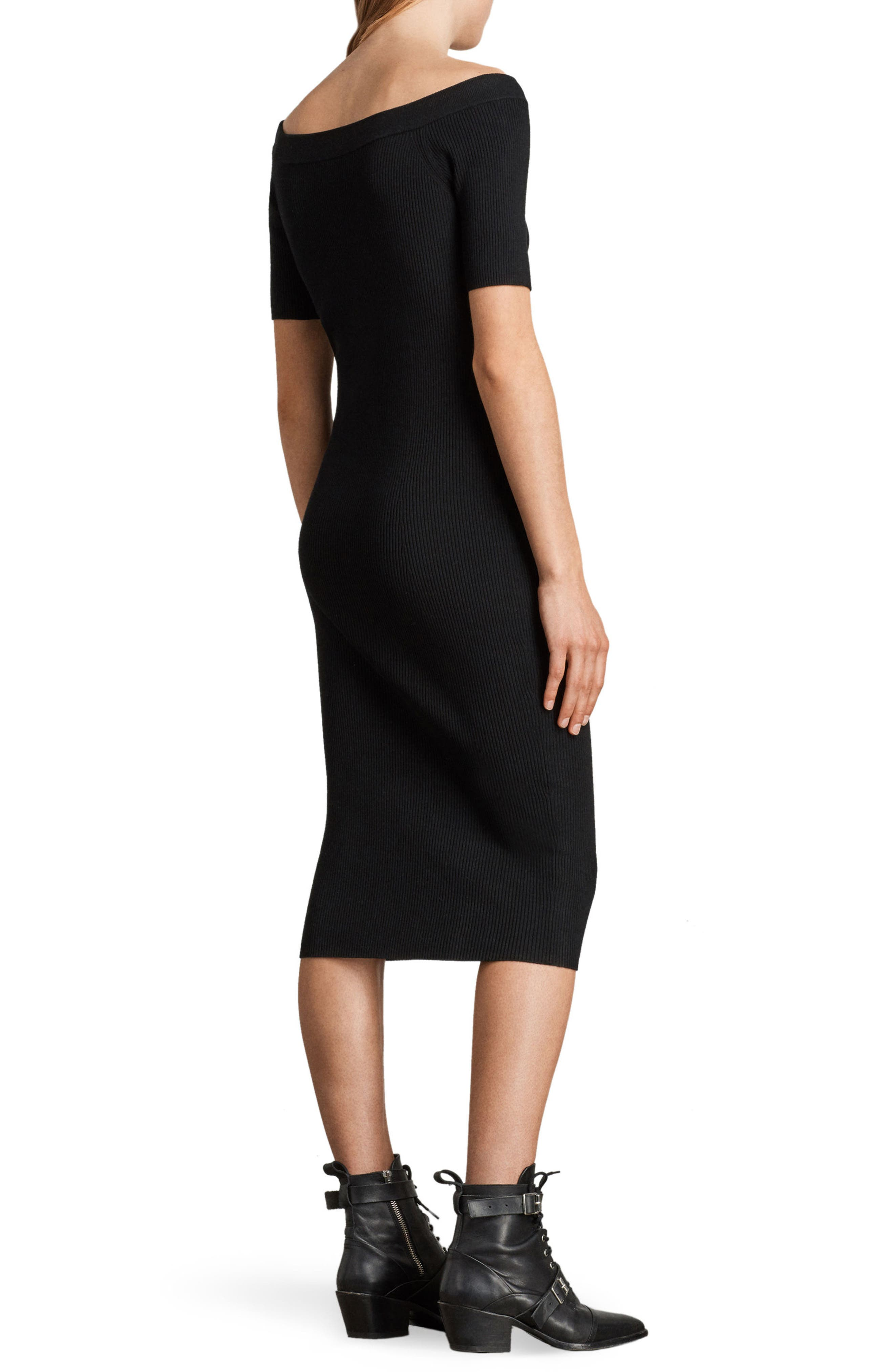 Lavine Bandeau Dress,                             Alternate thumbnail 2, color,                             Black
