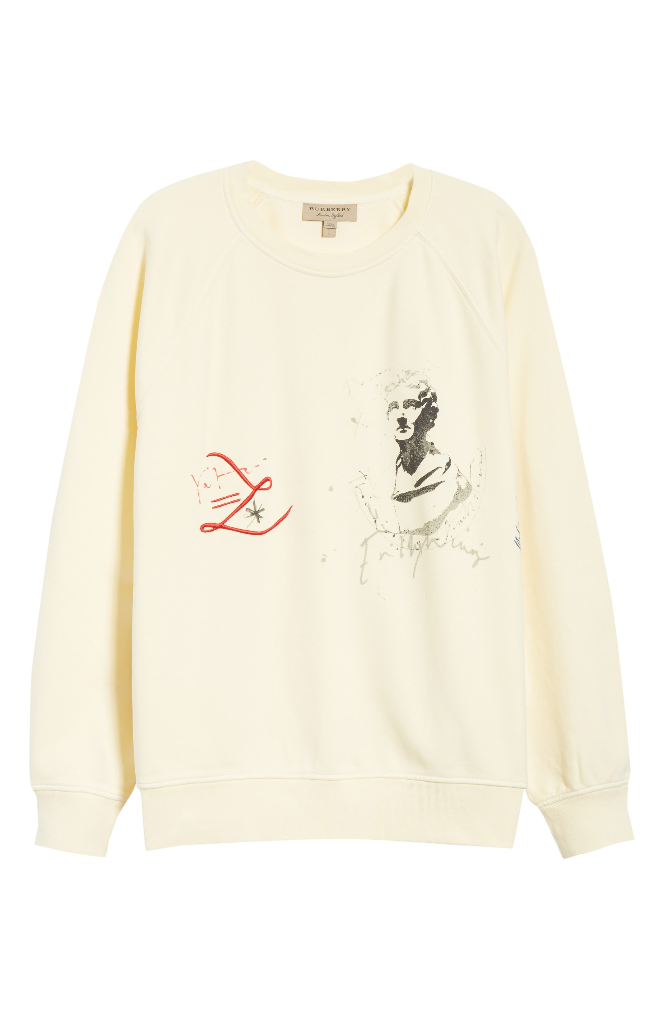 Earlford Graphic Sweatshirt,                             Alternate thumbnail 6, color,                             Pale Yellow