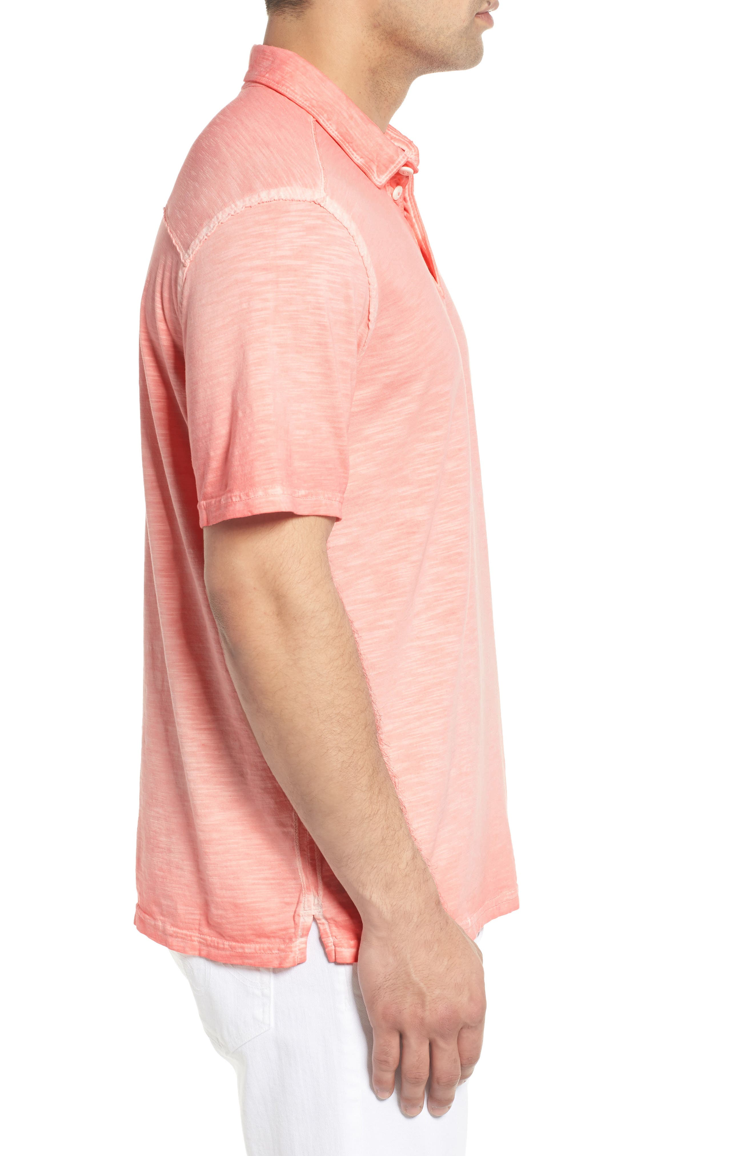Suncoast Shores Slub Jersey Polo,                             Alternate thumbnail 3, color,                             Electric Coral