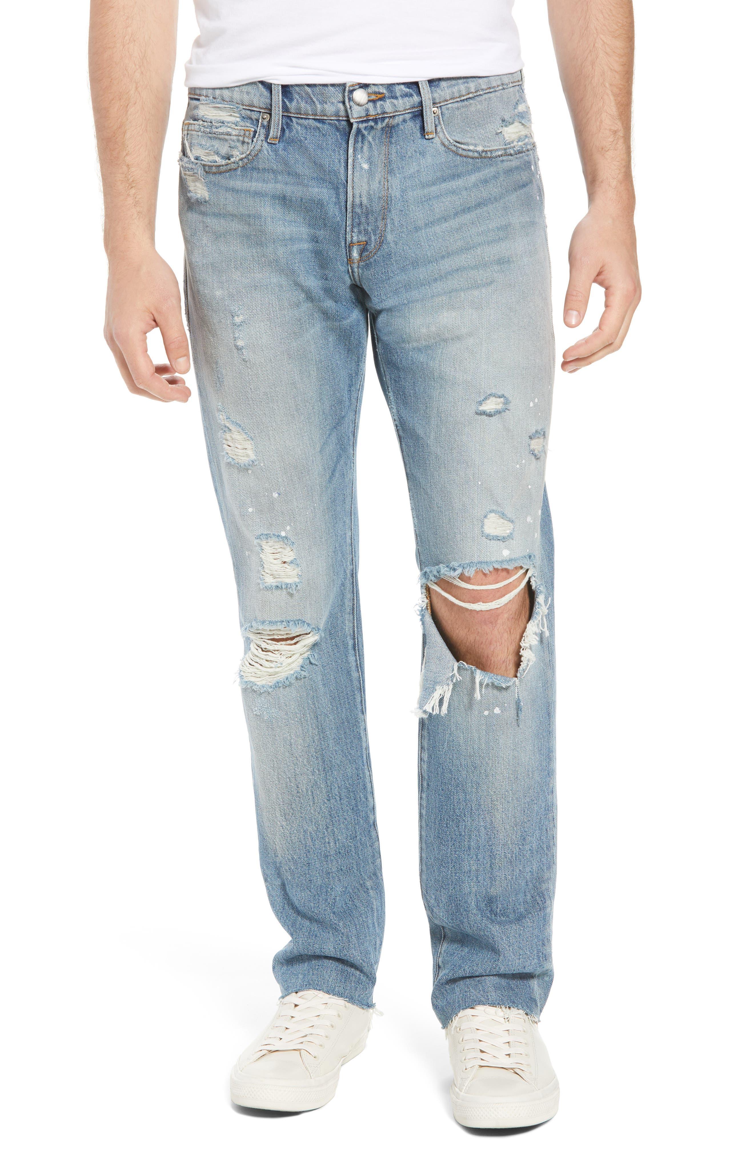 L'Homme Slim Fit Jeans,                             Main thumbnail 1, color,                             Bizworth