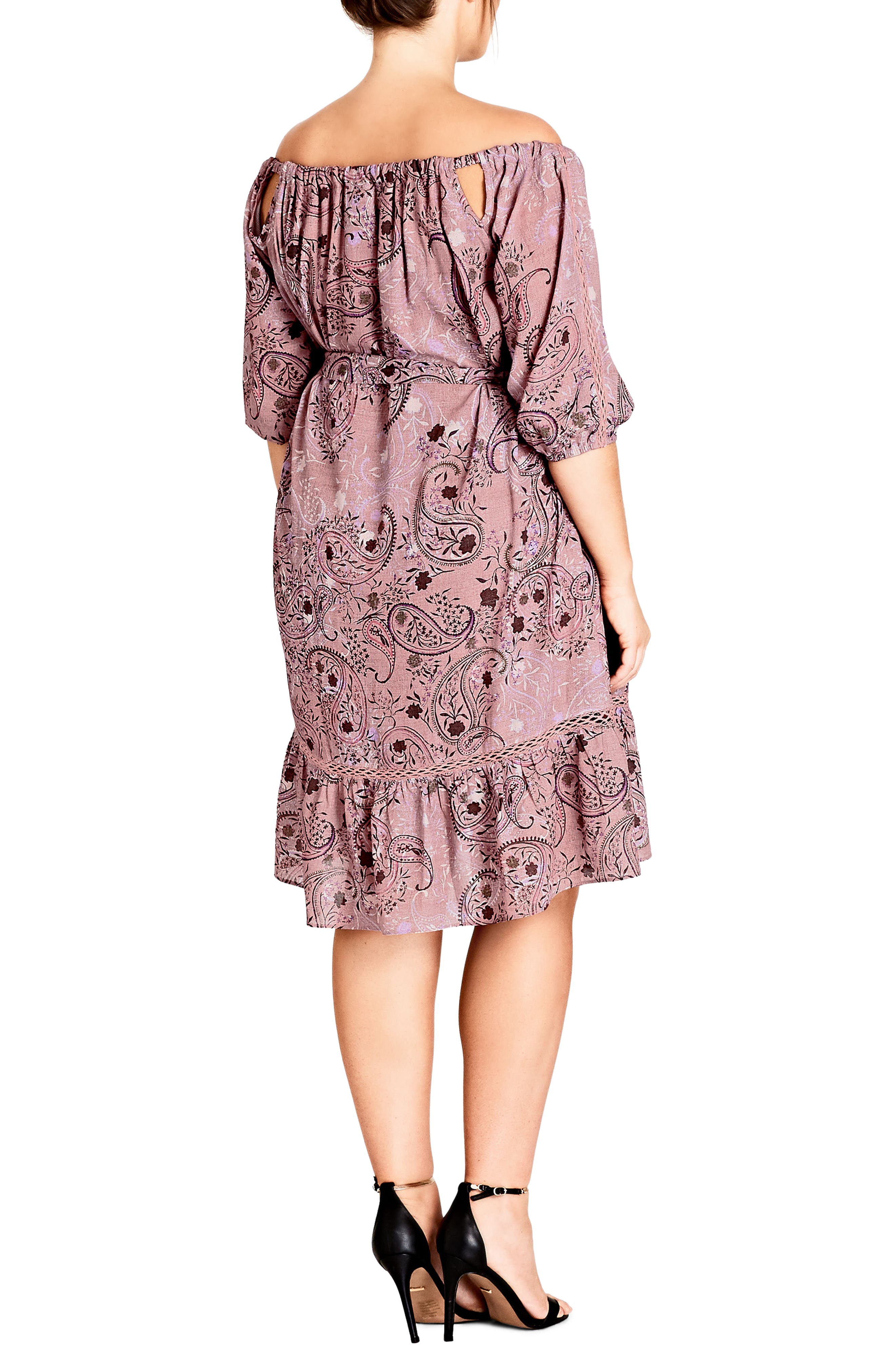 Luxe Paisley Dress,                             Alternate thumbnail 2, color,                             Luxe Paisley