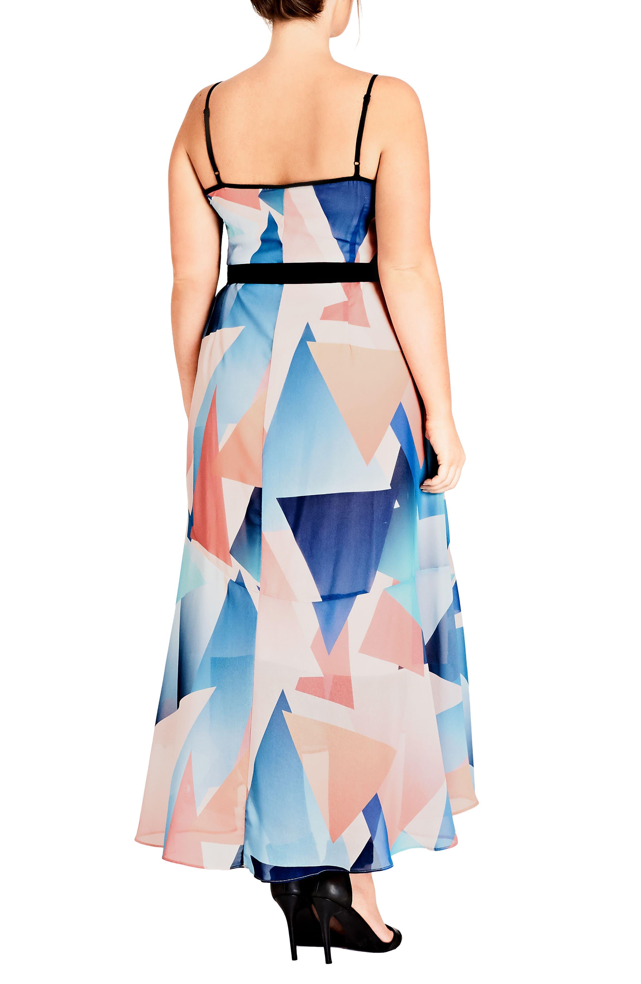 Angles Maxi Dress,                             Alternate thumbnail 2, color,                             Soft Angles