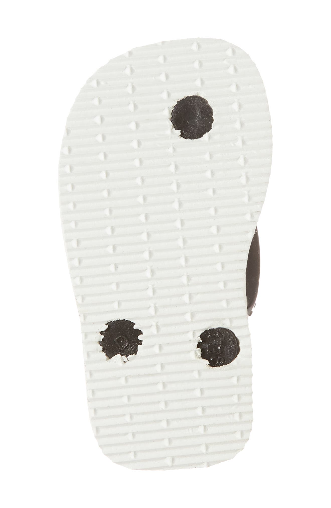 Havianas Baby Chic Sandal,                             Alternate thumbnail 6, color,                             White/ Black/ Black