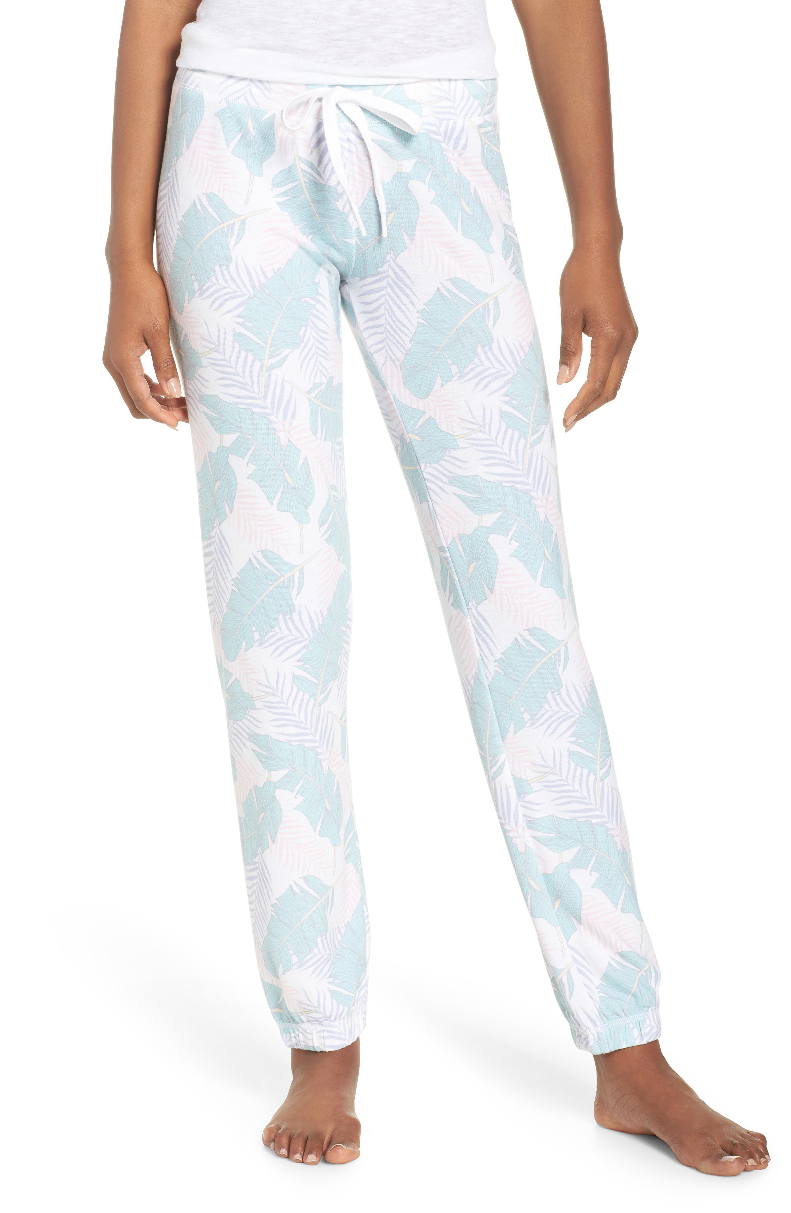 Peachy Jogger Lounge Pants,                             Main thumbnail 1, color,                             White