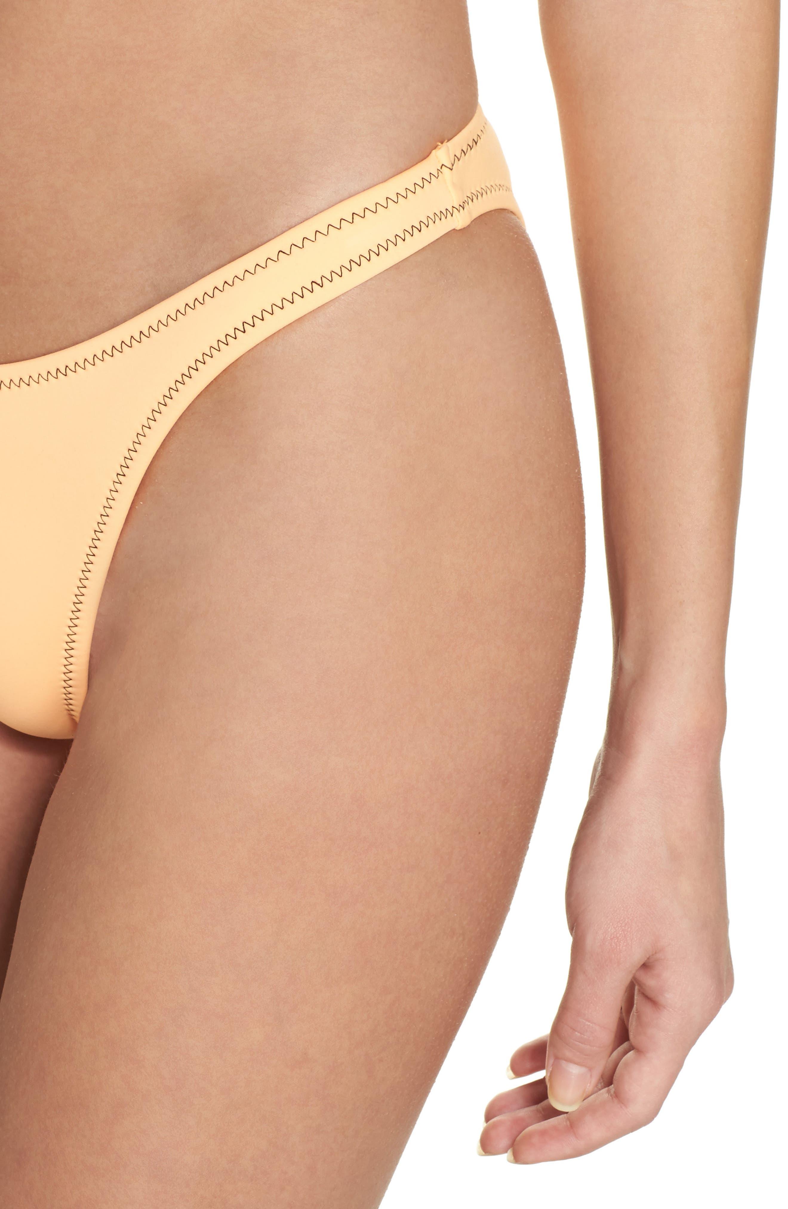 Straight Up Bikini Bottoms,                             Alternate thumbnail 4, color,                             Mango