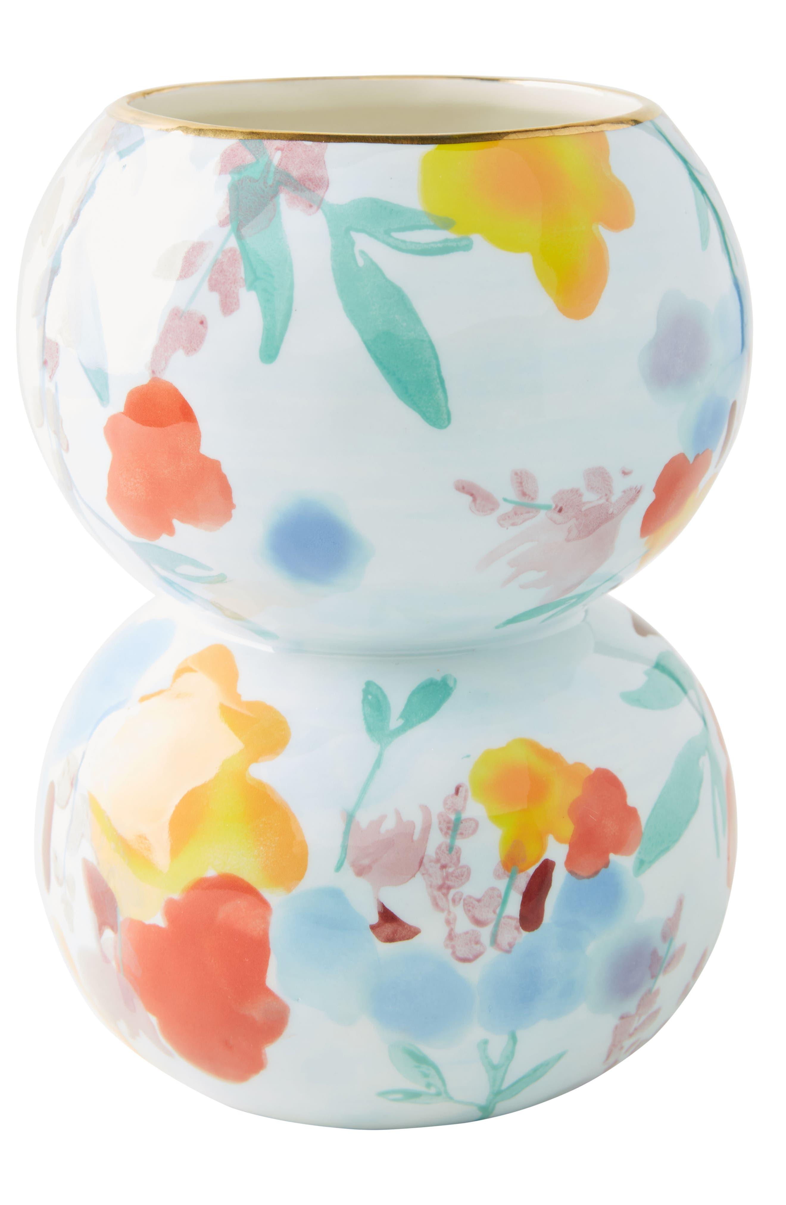 Larue Vase,                             Alternate thumbnail 4, color,                             Light Blue/ Orange
