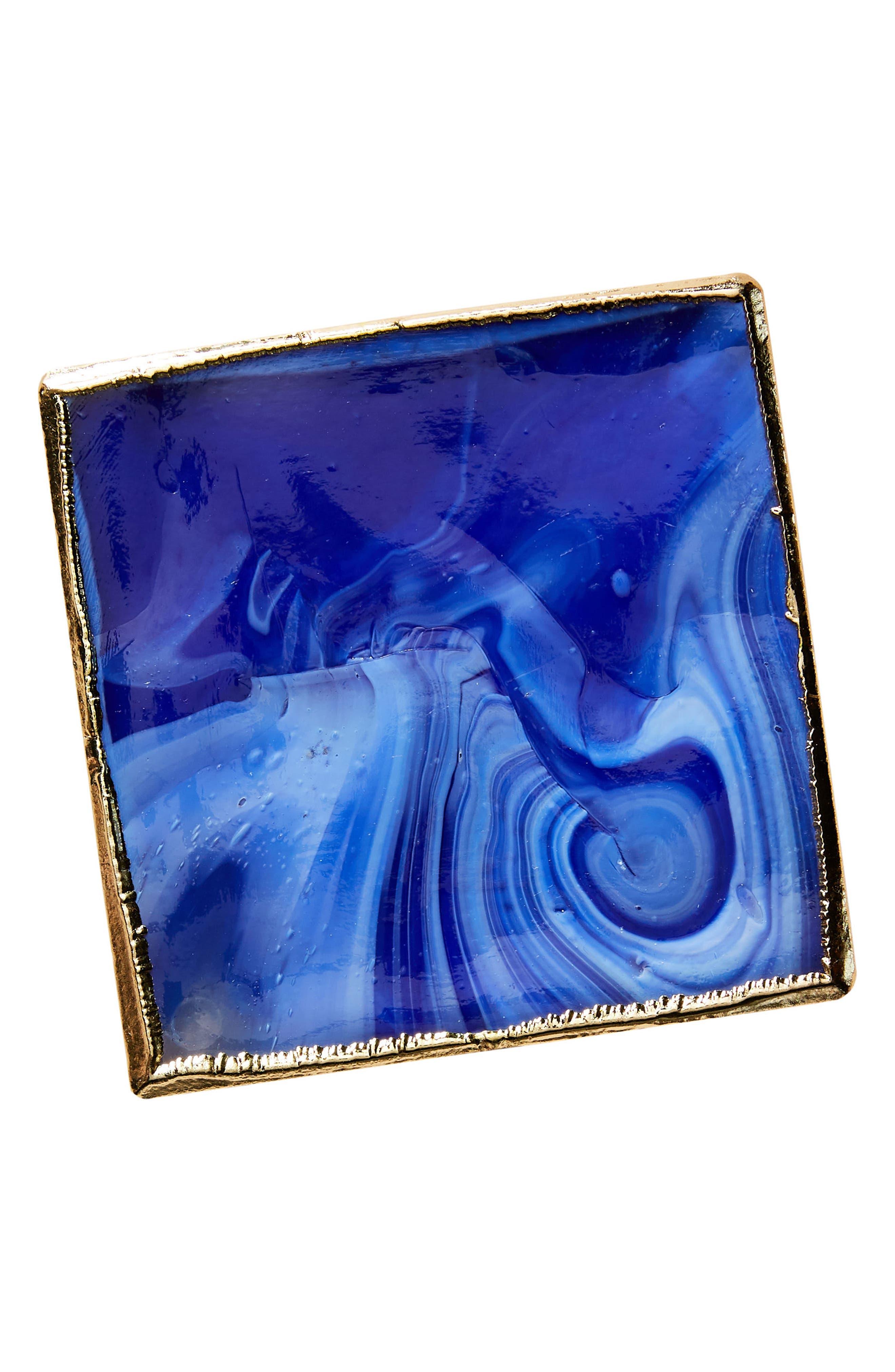 Swirled Coaster,                             Alternate thumbnail 3, color,                             Blue