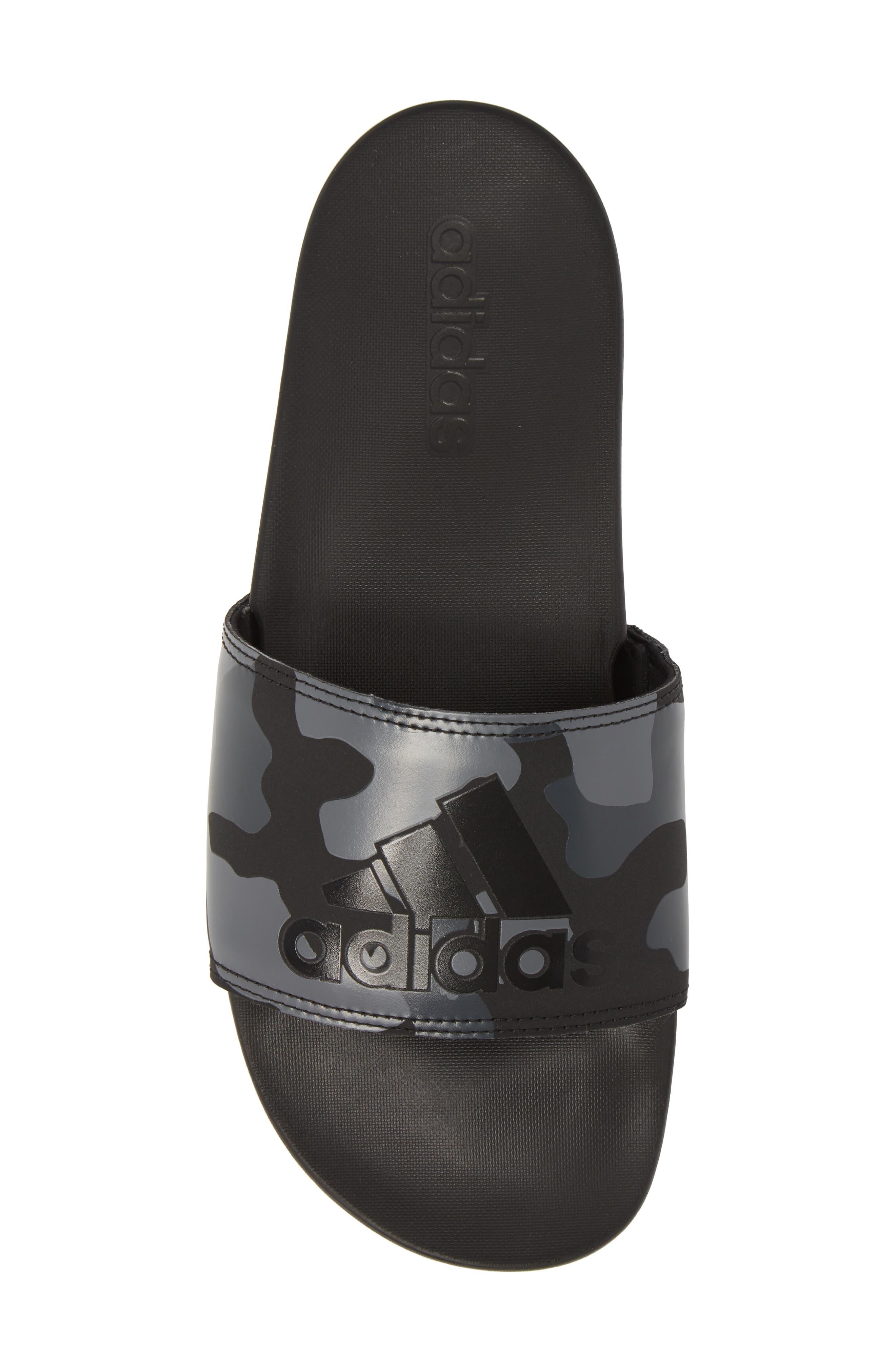 Cloudfoam Plus Slide Sandal,                             Alternate thumbnail 5, color,                             Core Black/ White/ Carbon
