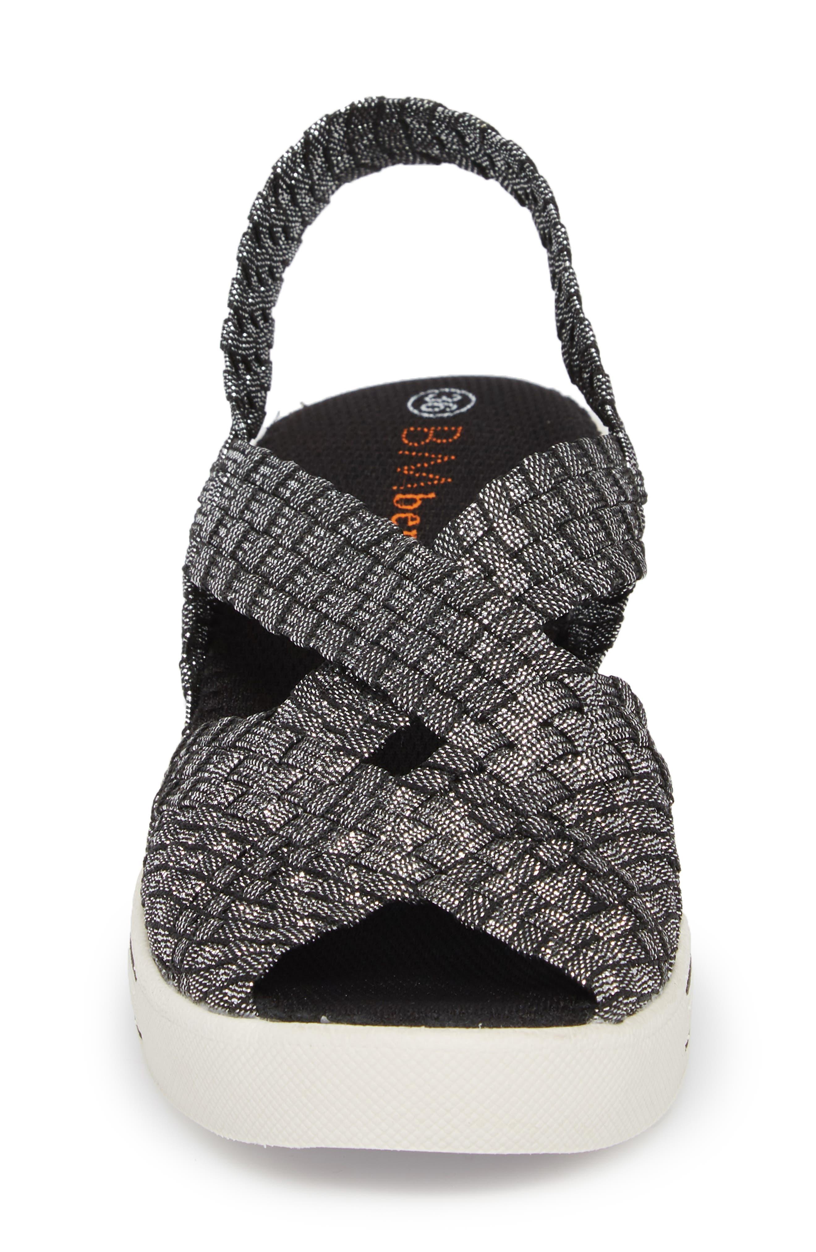 Lux Gigi Wedge Sandal,                             Alternate thumbnail 4, color,                             Black Shimmer