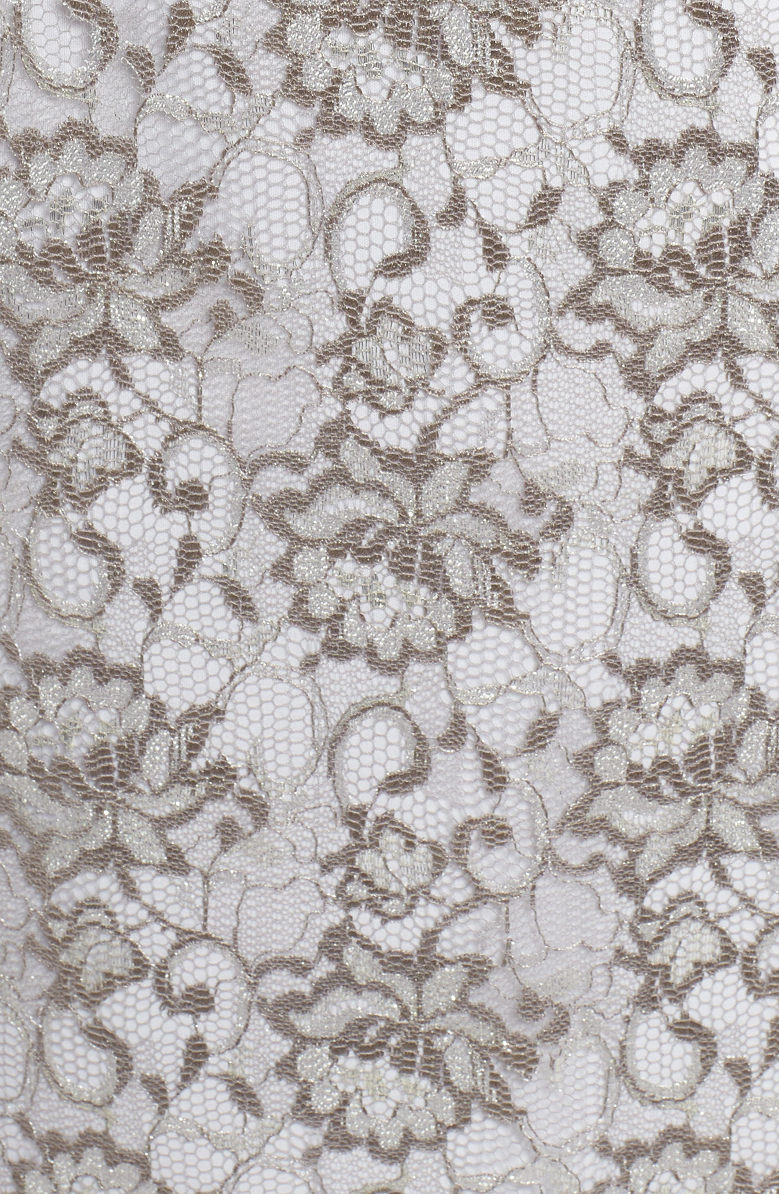 Flutter Sleeve Lace Sheath Dress,                             Alternate thumbnail 5, color,                             Silver
