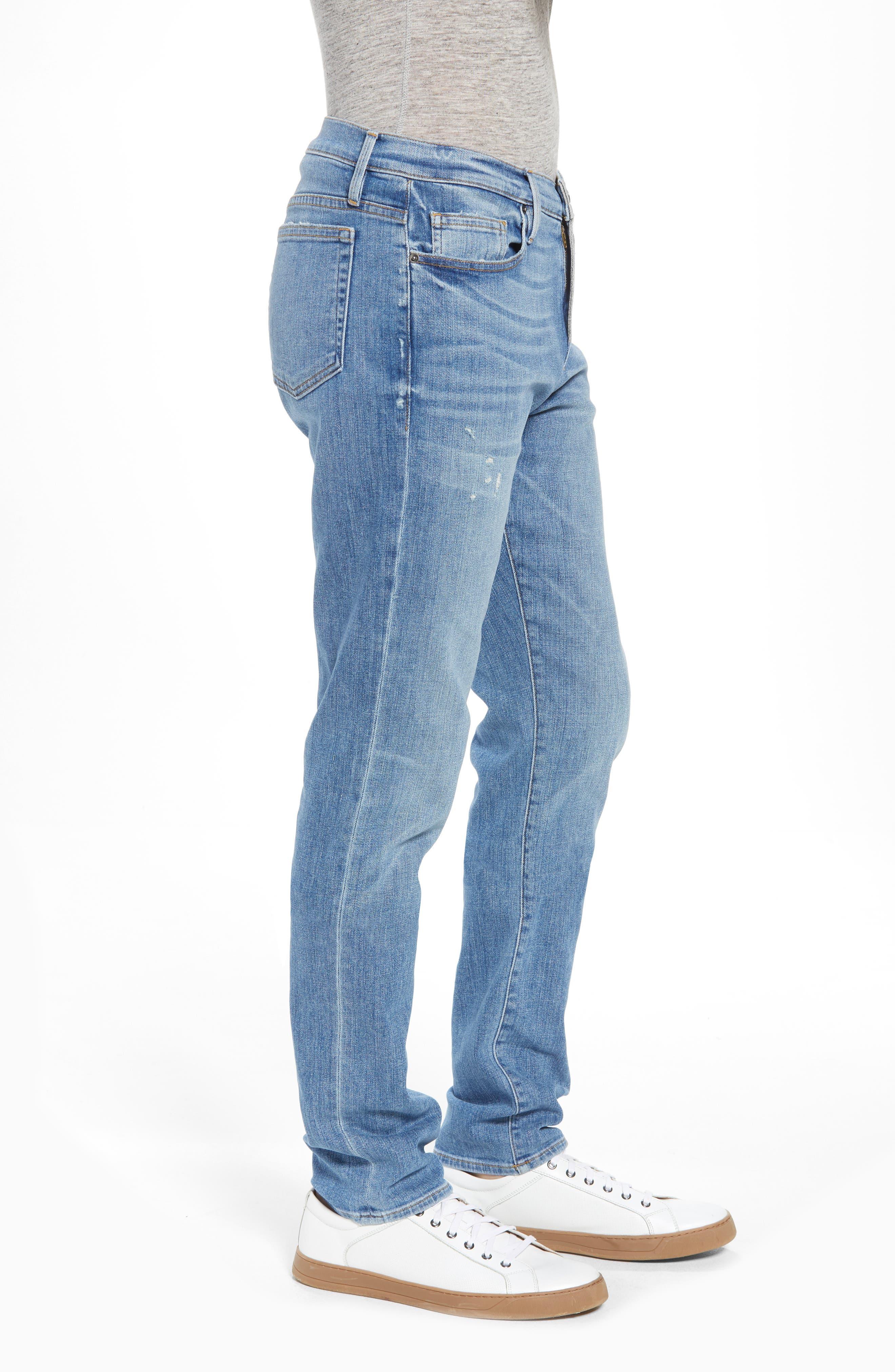L'Homme Slim Straight Fit Jeans,                             Alternate thumbnail 3, color,                             Russel Cave
