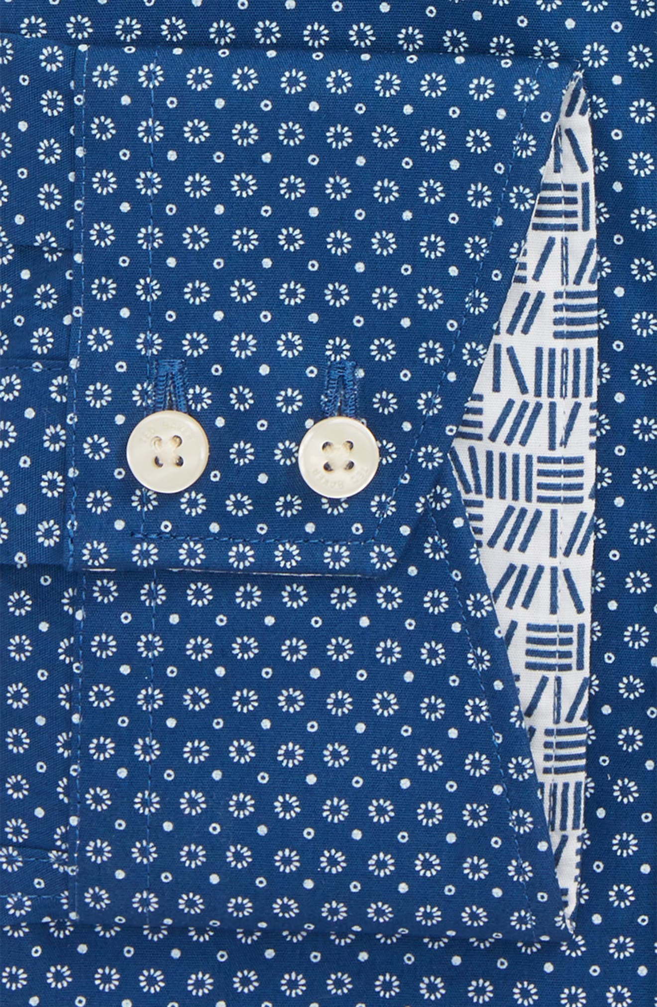 Loops Slim Fit Dress Shirt,                             Alternate thumbnail 5, color,                             Navy