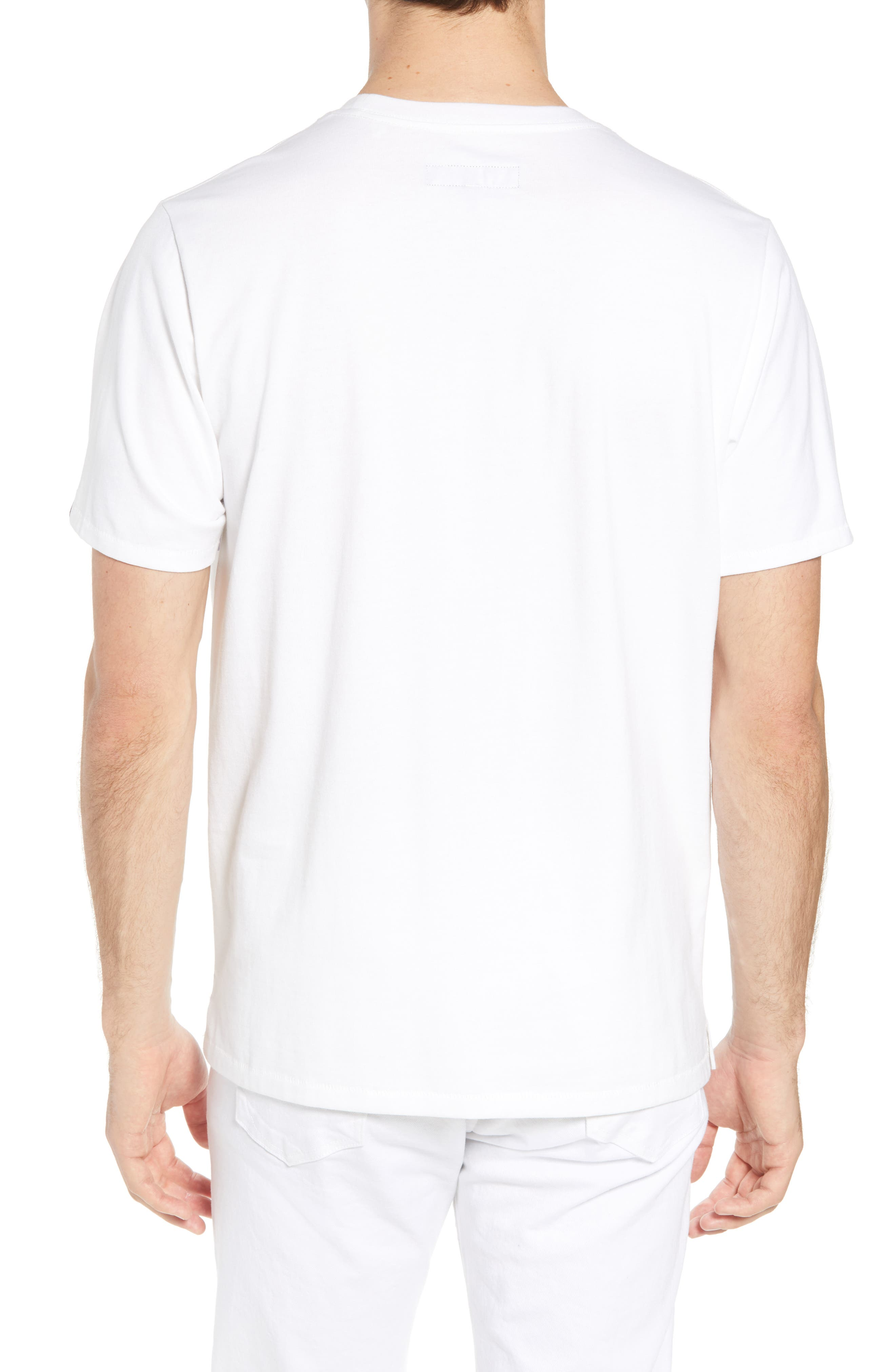 Glitch Regular Fit T-Shirt,                             Alternate thumbnail 2, color,                             White
