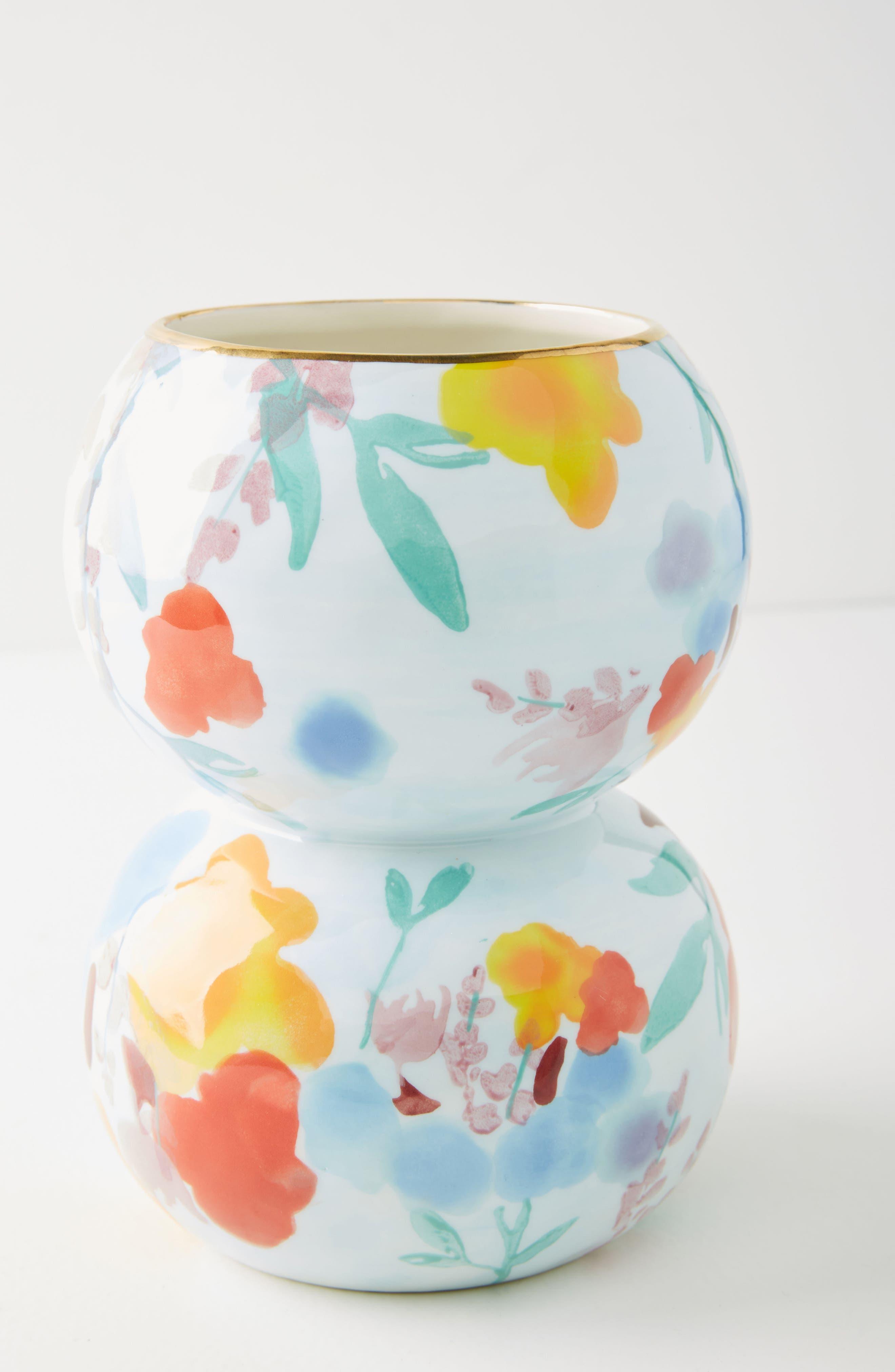 Larue Vase,                             Main thumbnail 1, color,                             Light Blue/ Orange