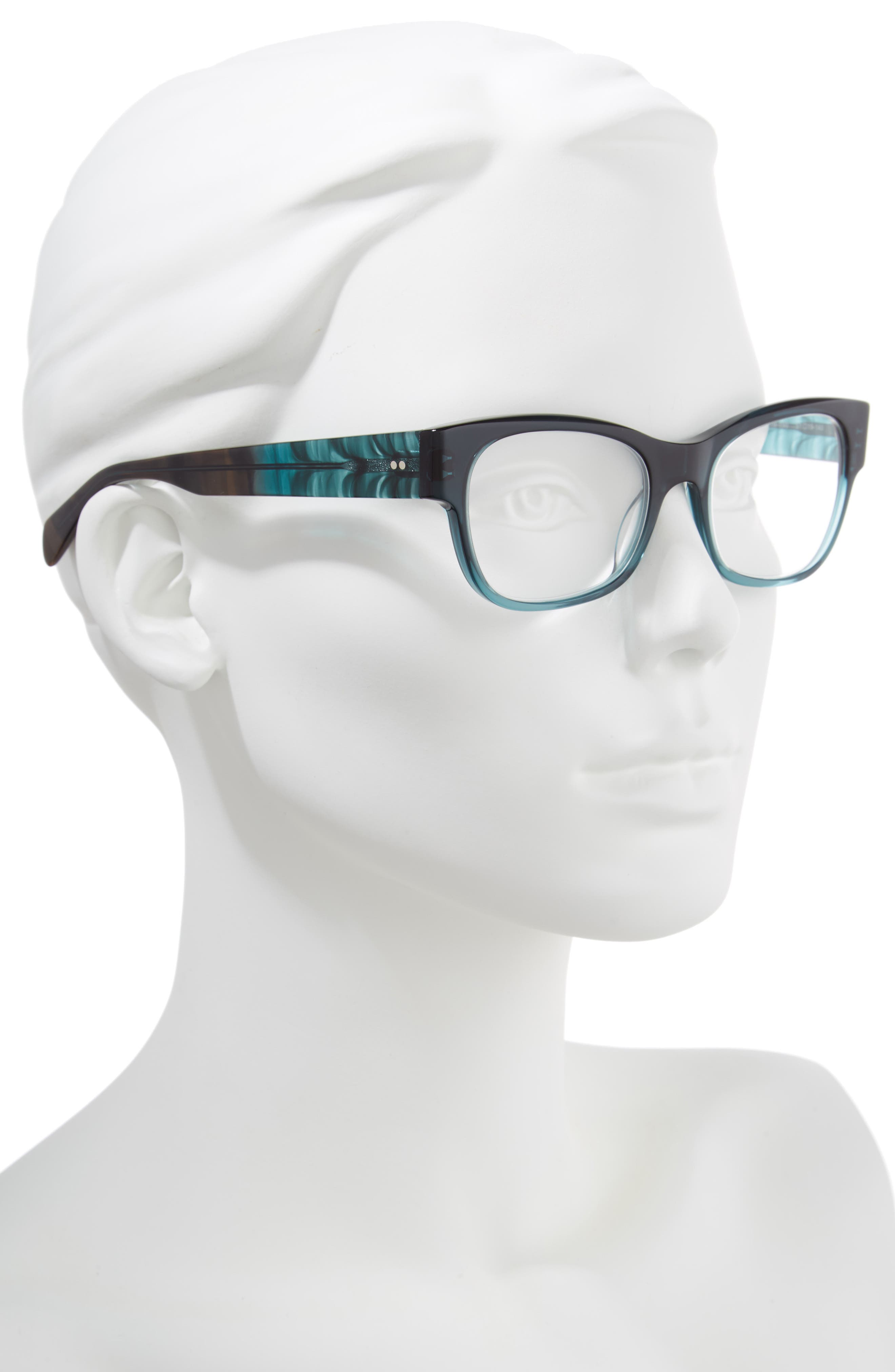 Marty 51mm Reading Glasses,                             Alternate thumbnail 2, color,                             Teal
