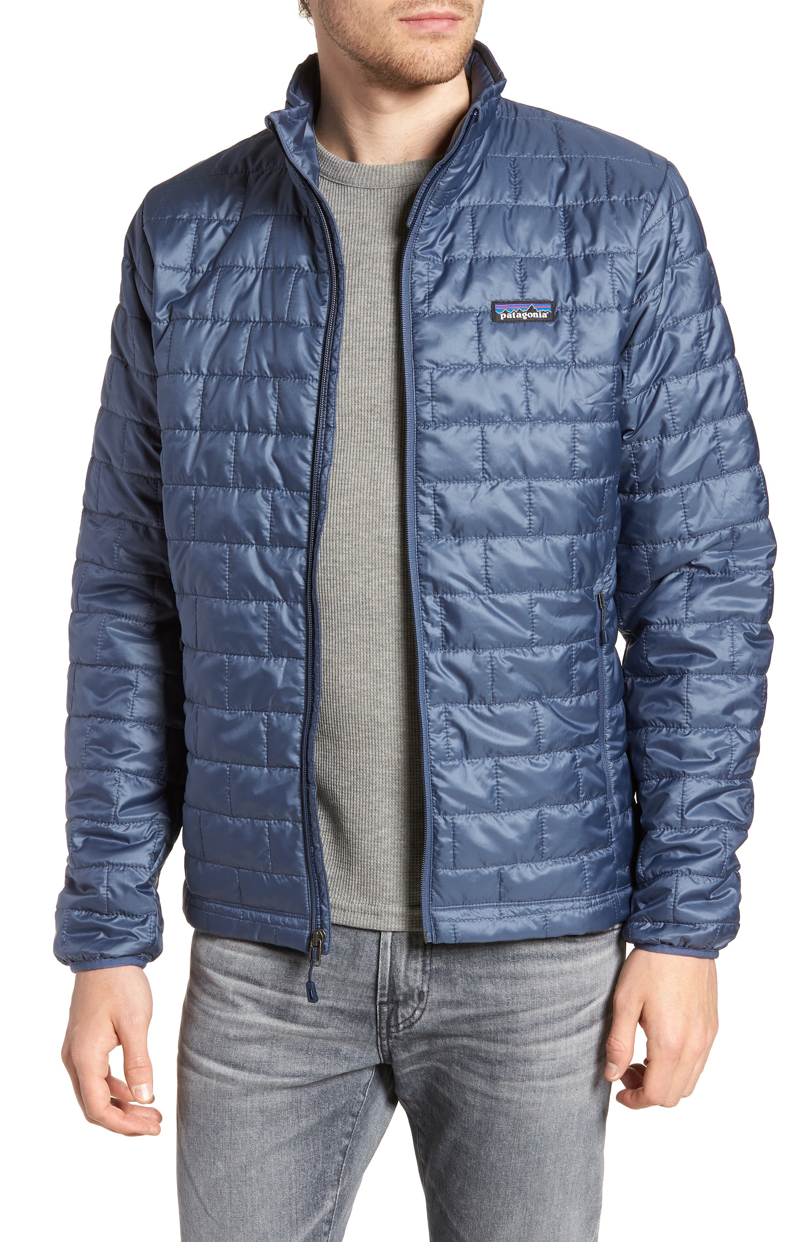 'Nano Puff<sup>®</sup>' Water Resistant Jacket,                             Main thumbnail 1, color,                             Dolomite Blue