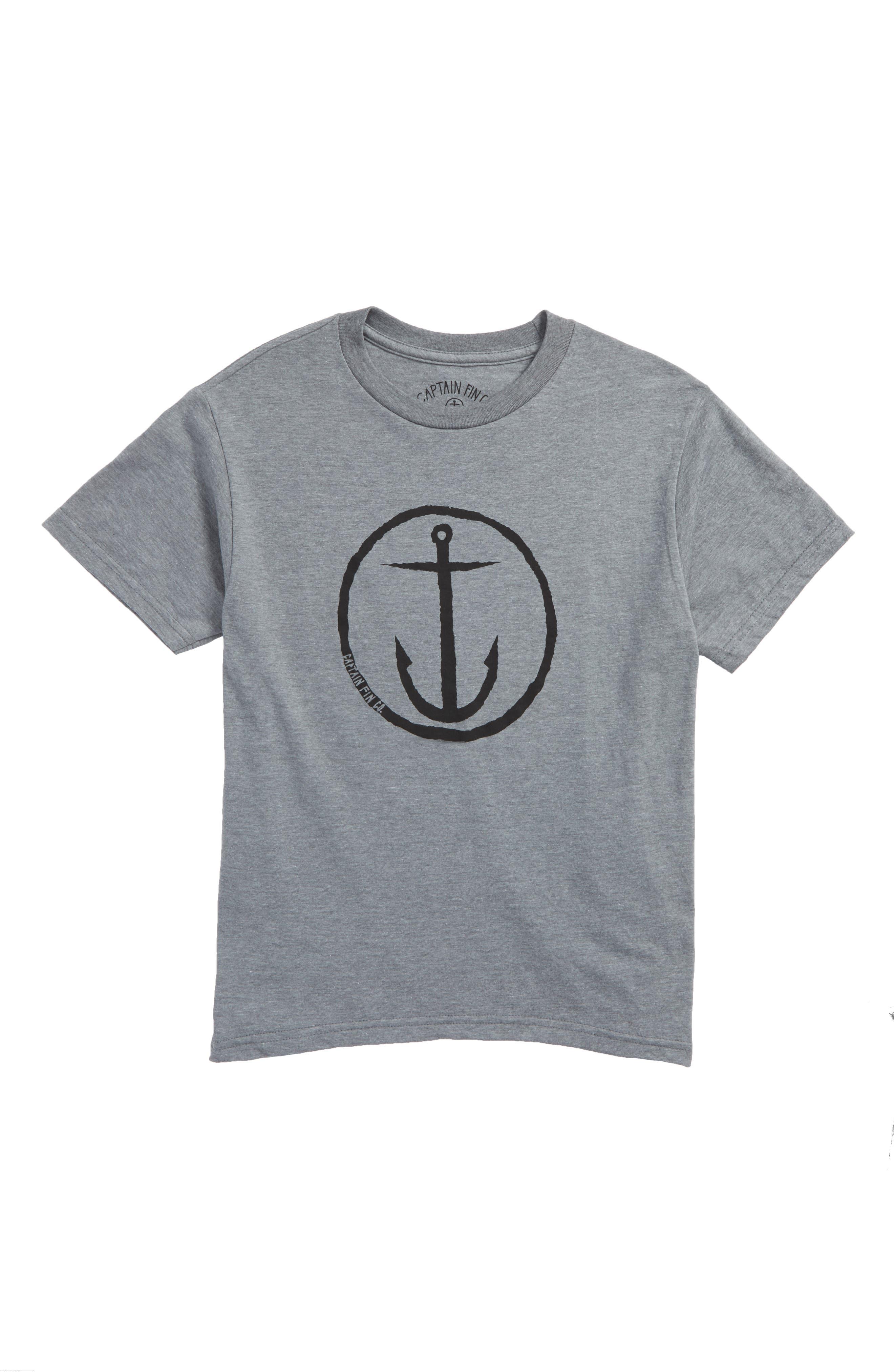 Captain Fin Original Anchor Graphic T-Shirt (Big Boys)