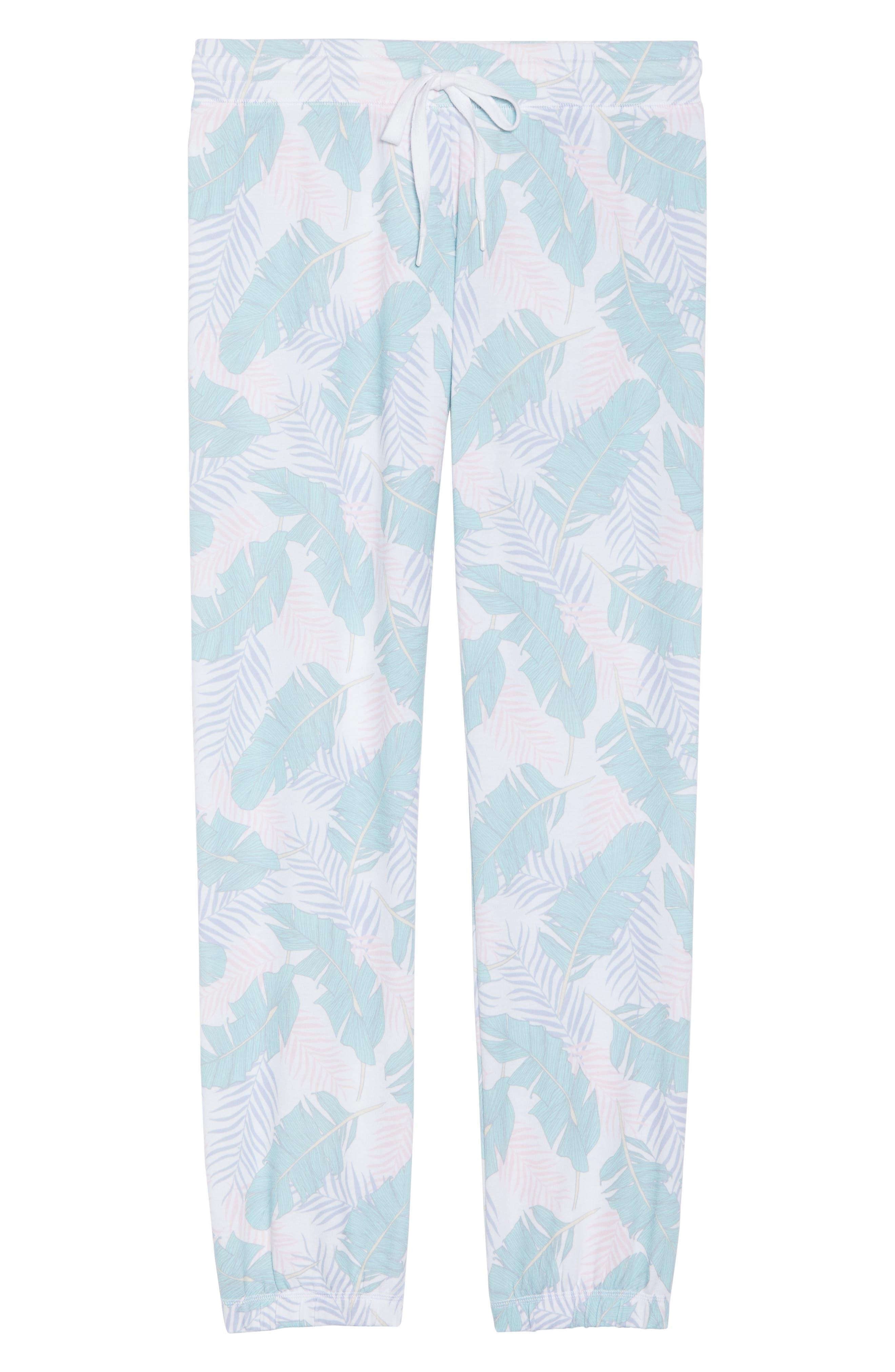 Peachy Jogger Lounge Pants,                             Alternate thumbnail 4, color,                             White