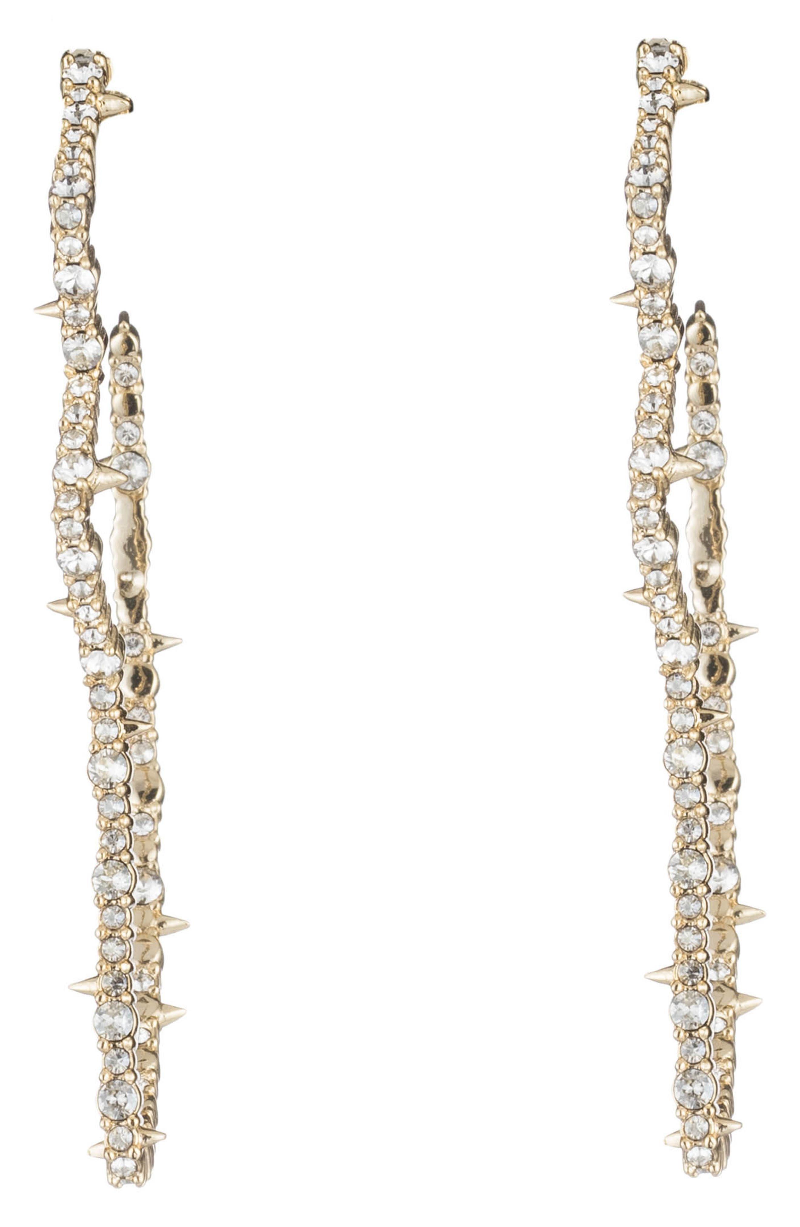 Tulip Post Earrings,                             Main thumbnail 1, color,                             Gold/ Silver