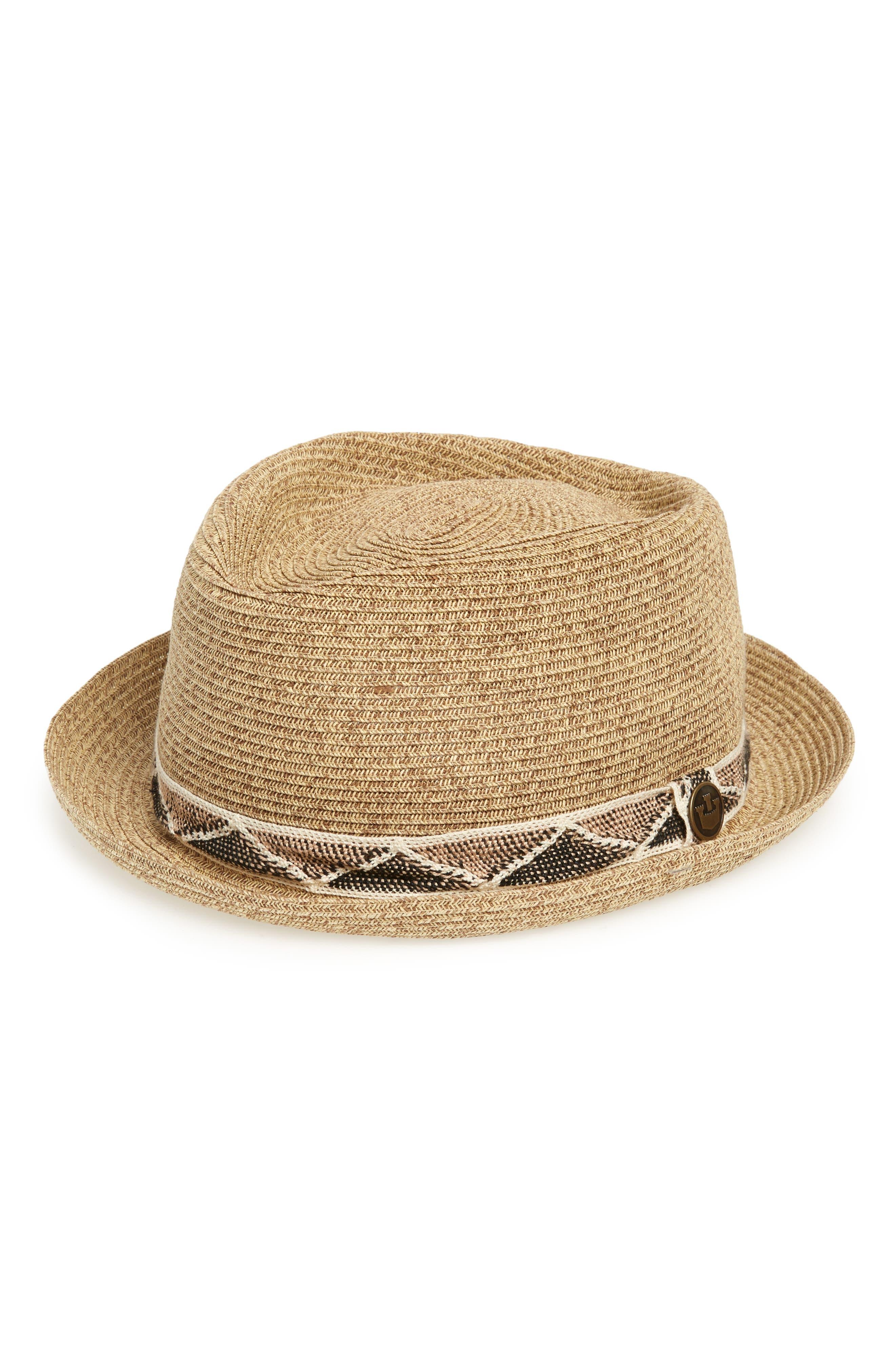 Albuquerque Straw Hat,                         Main,                         color, Brown
