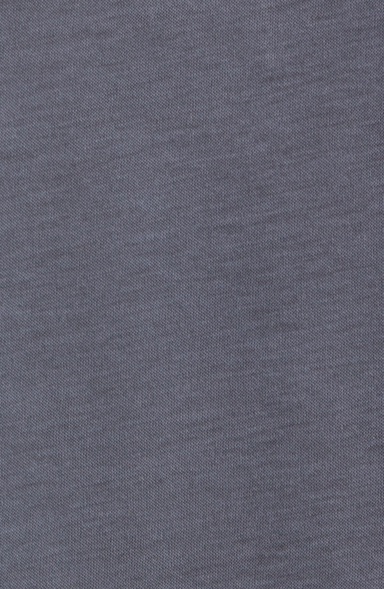 Shalene Regular Fit Polo,                             Alternate thumbnail 5, color,                             Grisaille/ Black