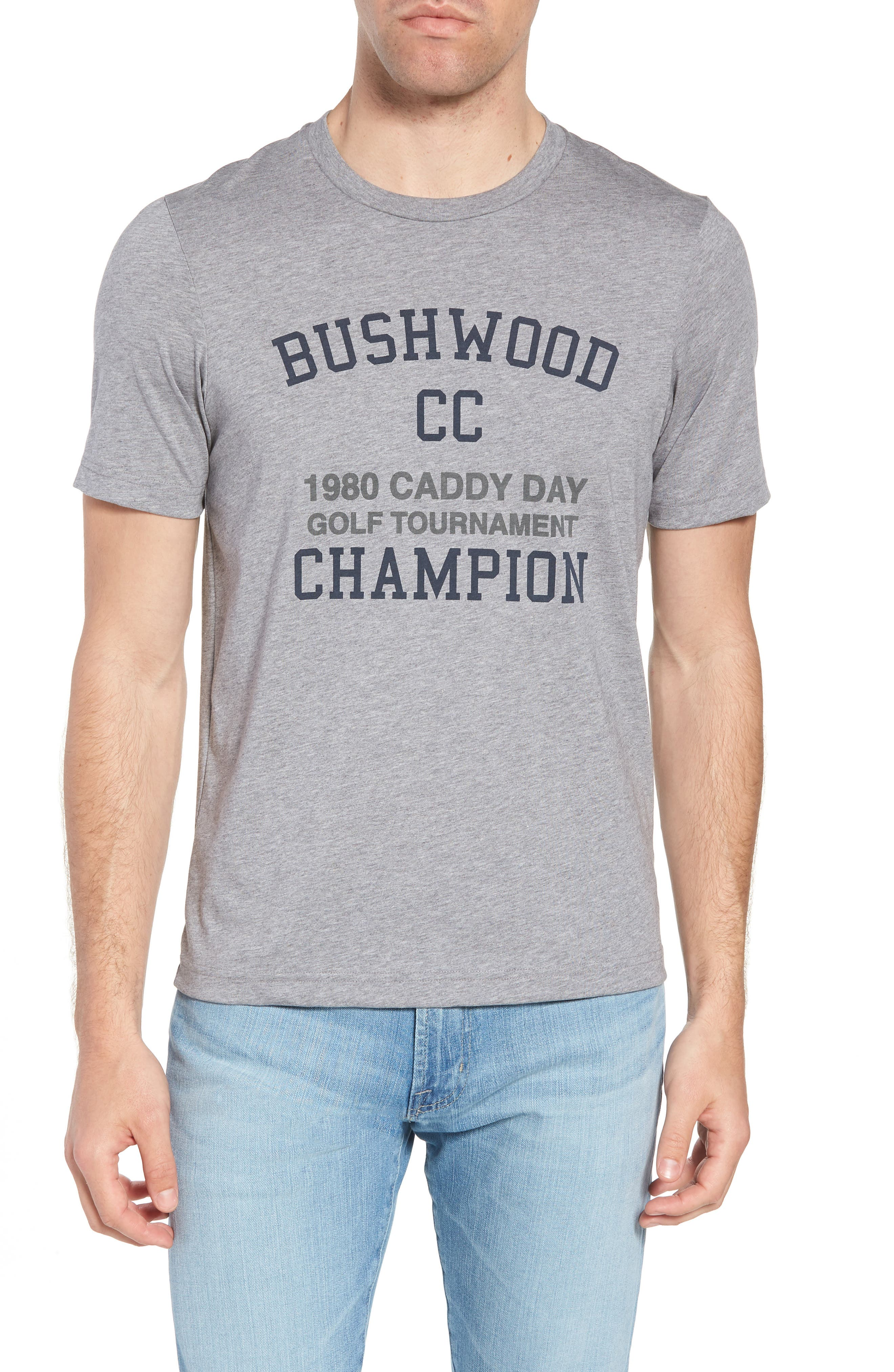 Caddy Day Graphic T-Shirt,                         Main,                         color, Heather Grey