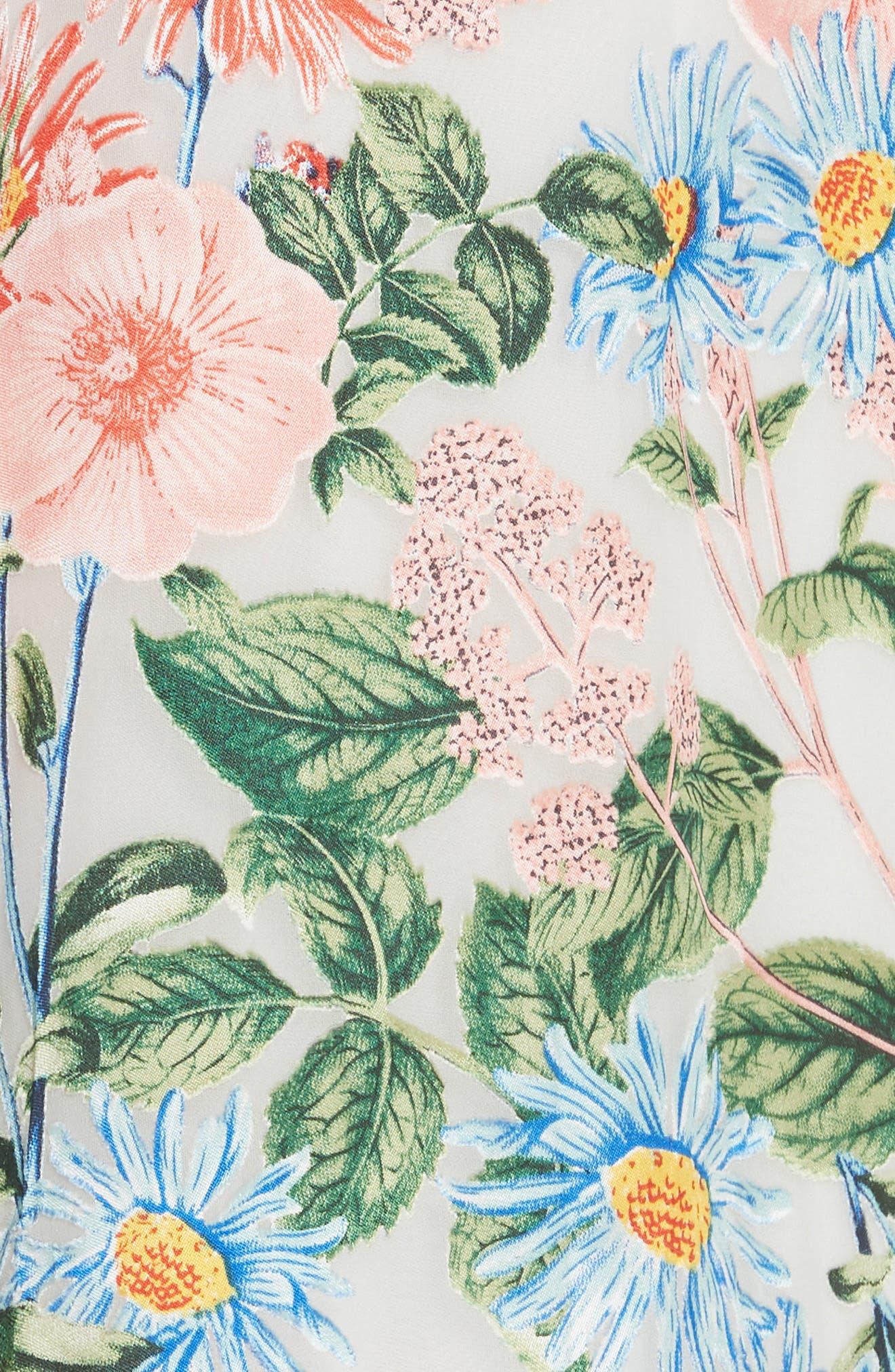 Alves Floral Cold Shoulder Maxi Dress,                             Alternate thumbnail 5, color,                             Floral Fields