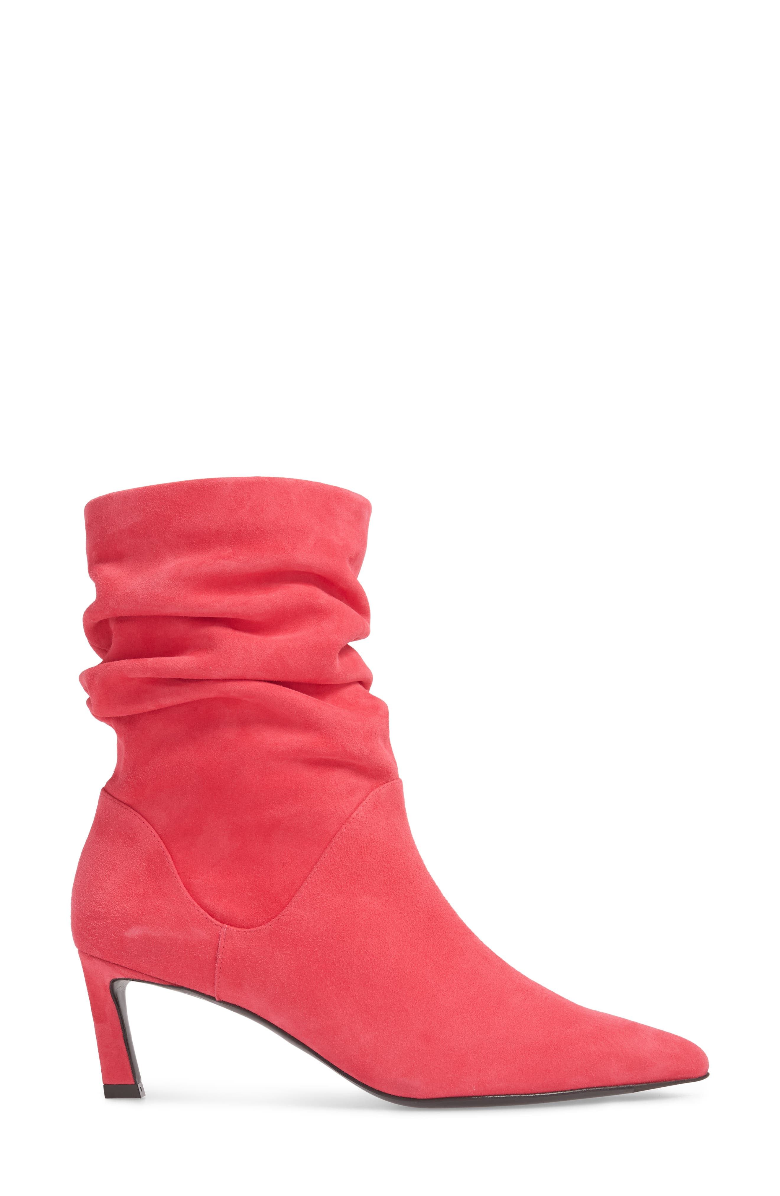 Demibenatar Slouch Bootie,                             Alternate thumbnail 3, color,                             Coral Luxe Suede