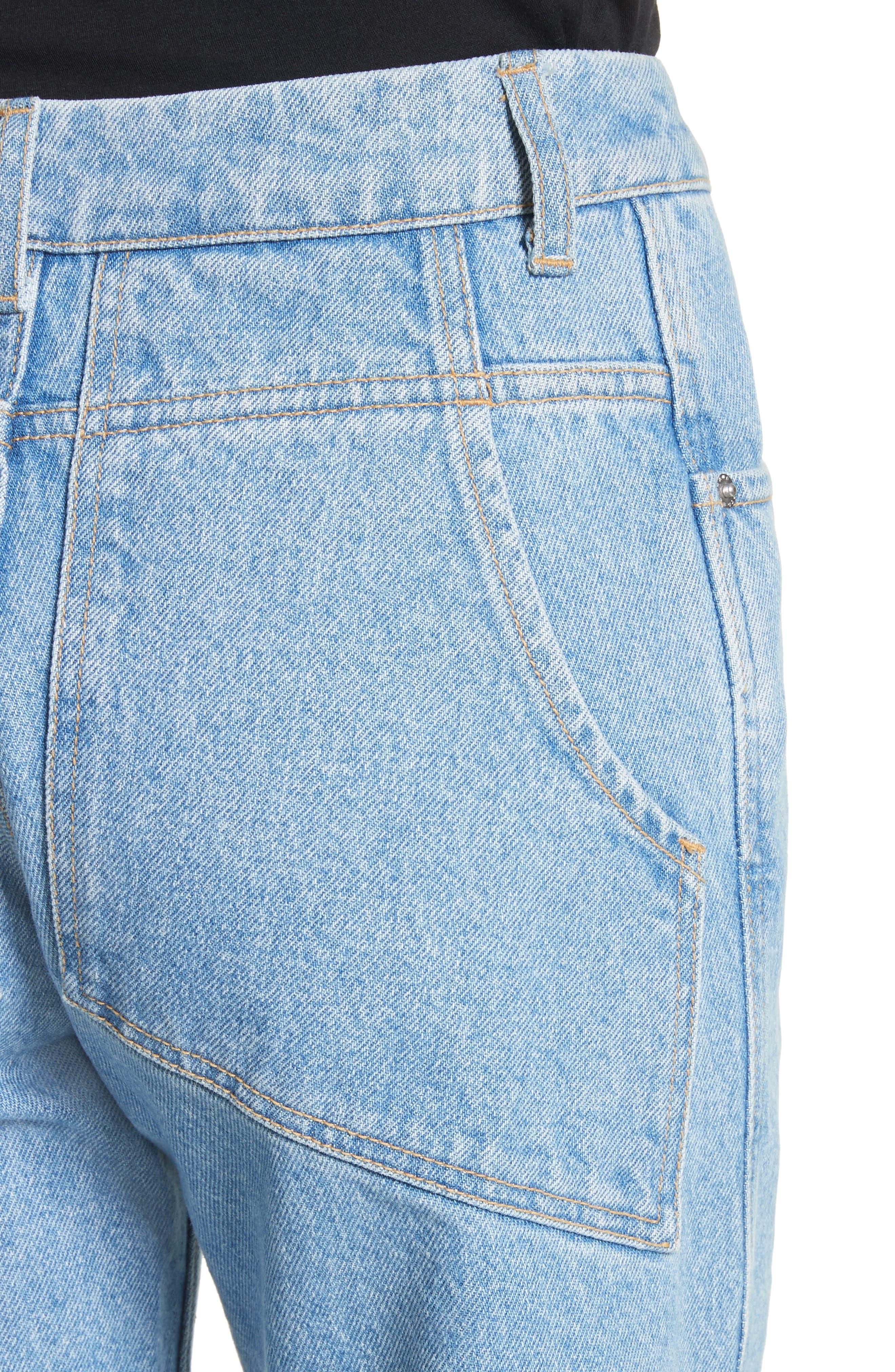 EL Wide Leg Jeans,                             Alternate thumbnail 4, color,                             True Blue